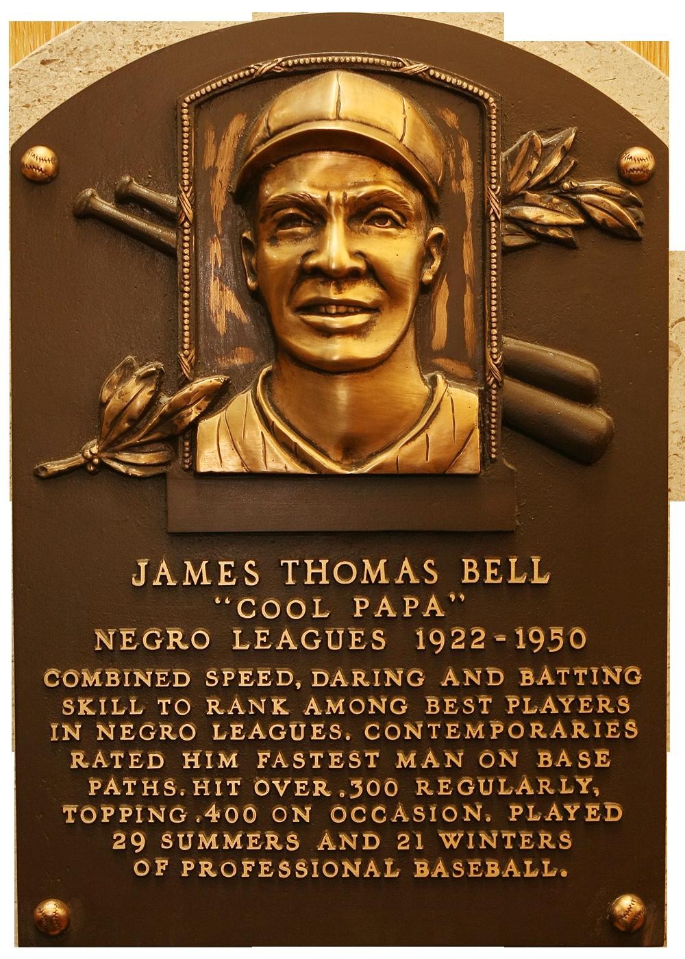 Bell Cool Papa Baseball Hall Of Fame