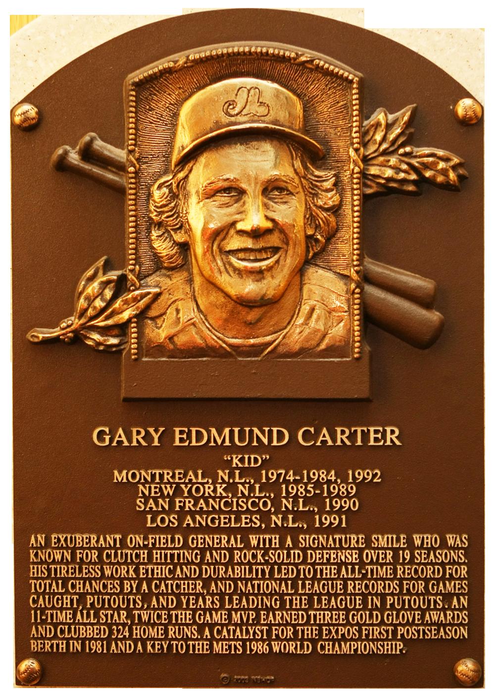 Carter Gary Baseball Hall Of Fame