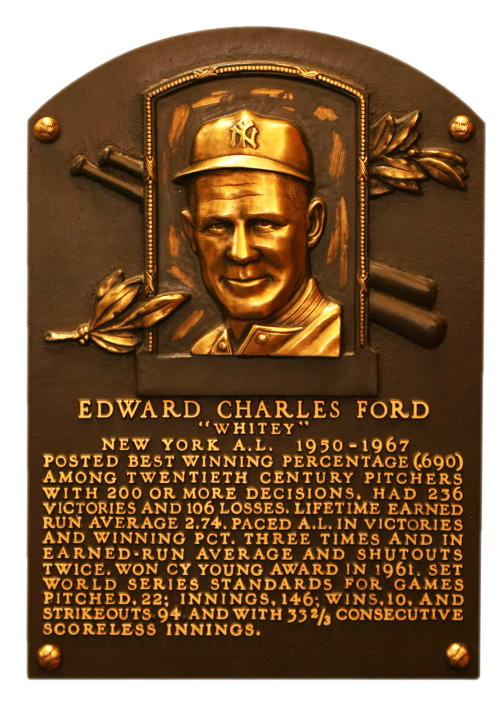 Ford Whitey Baseball Hall Of Fame