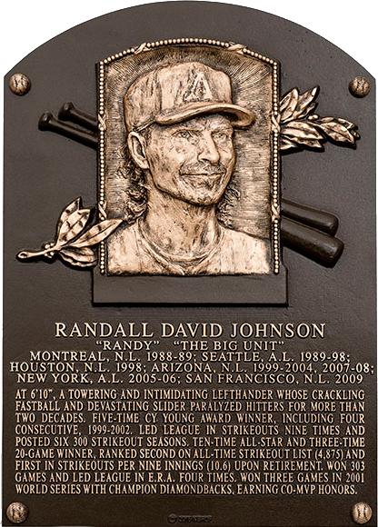 Johnson Randy Baseball Hall Of Fame