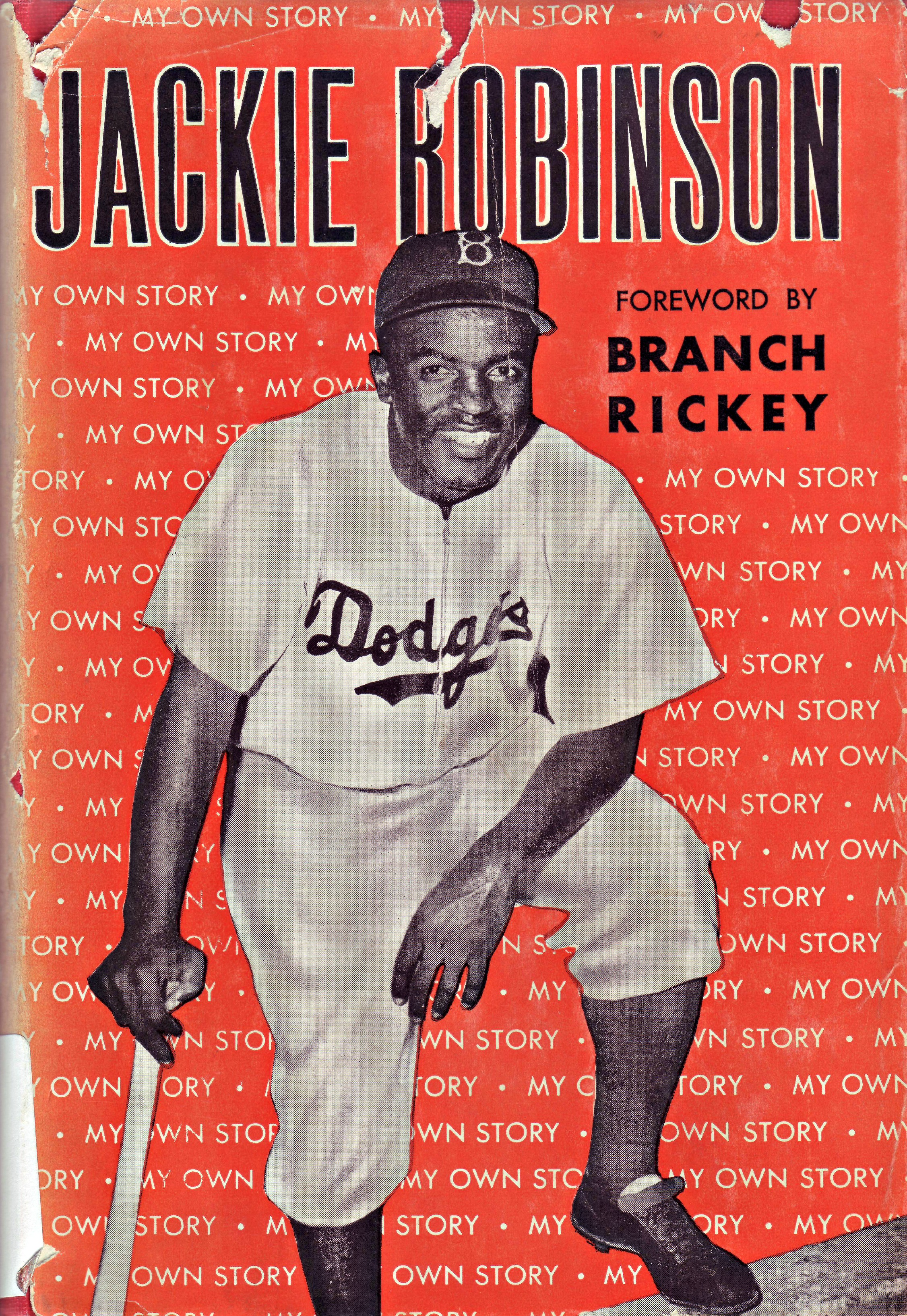 Jackie Robinson's first autobiography, <cite>My Own Story</cite> - BL-25-48 (National Baseball Hall of Fame Library)