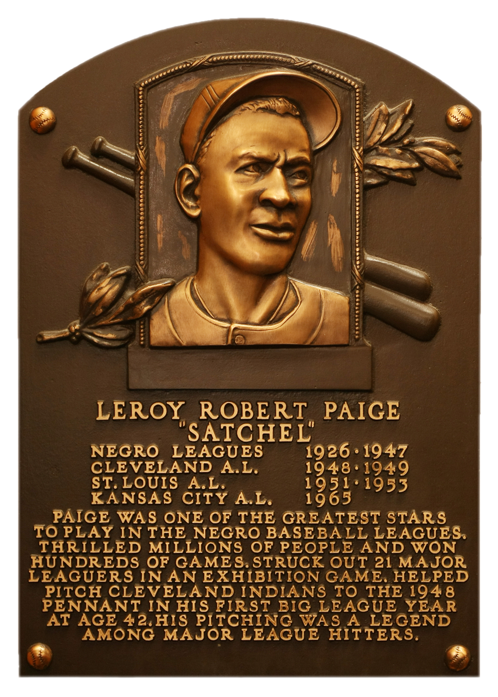 "satchel paige Lying about their age is nothing new for baseball players, who know that youthfulness generally draws more suitors and fatter contracts but none fudged their birth date longer and with more whimsy than leroy ""satchel"" paige."