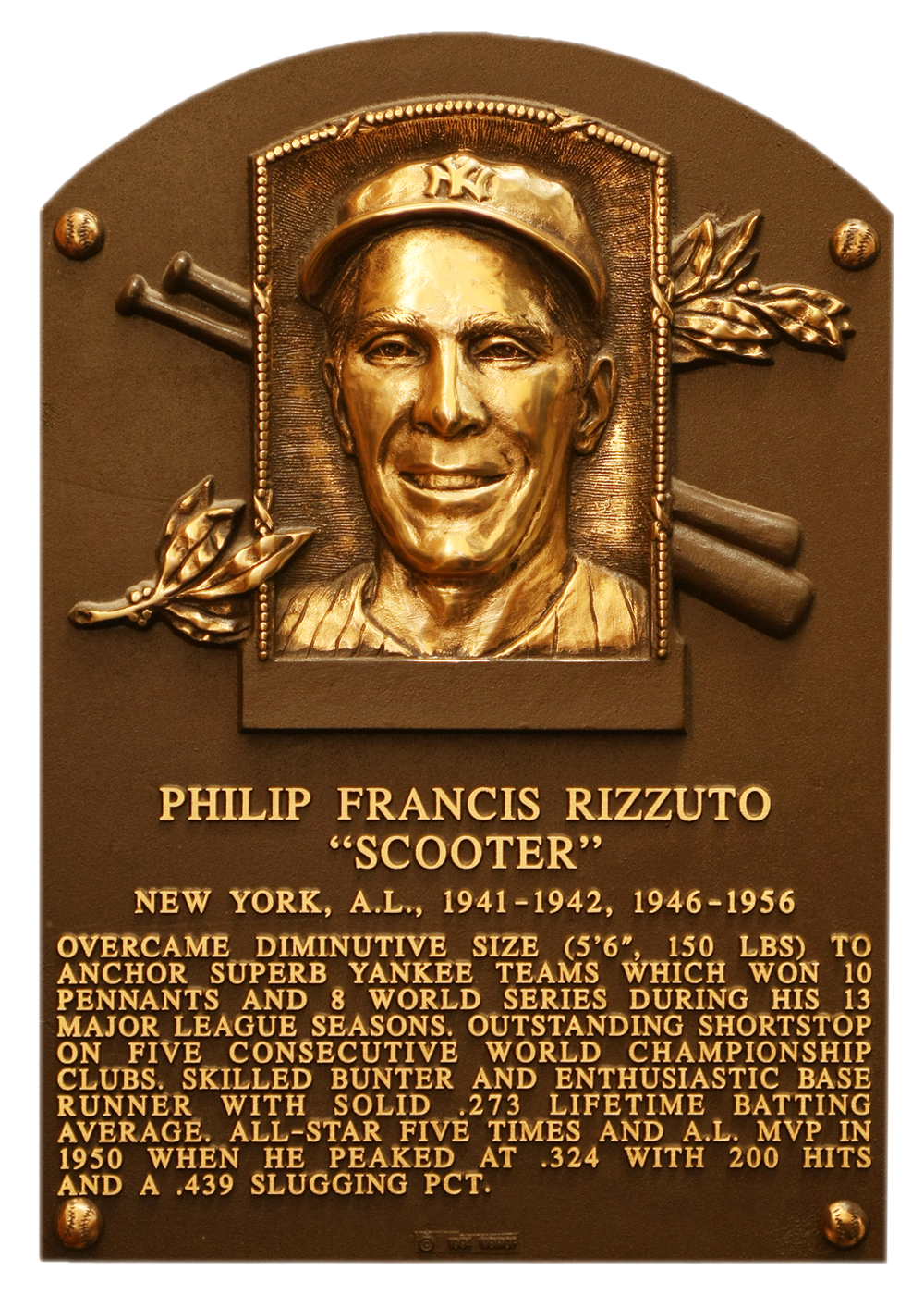 how tall is phil rizzuto