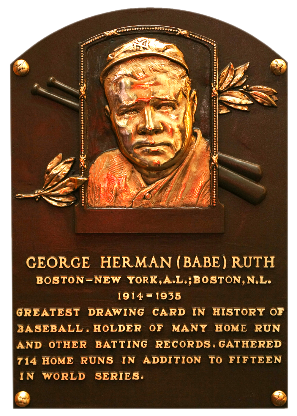 ruth babe baseball hall of fame