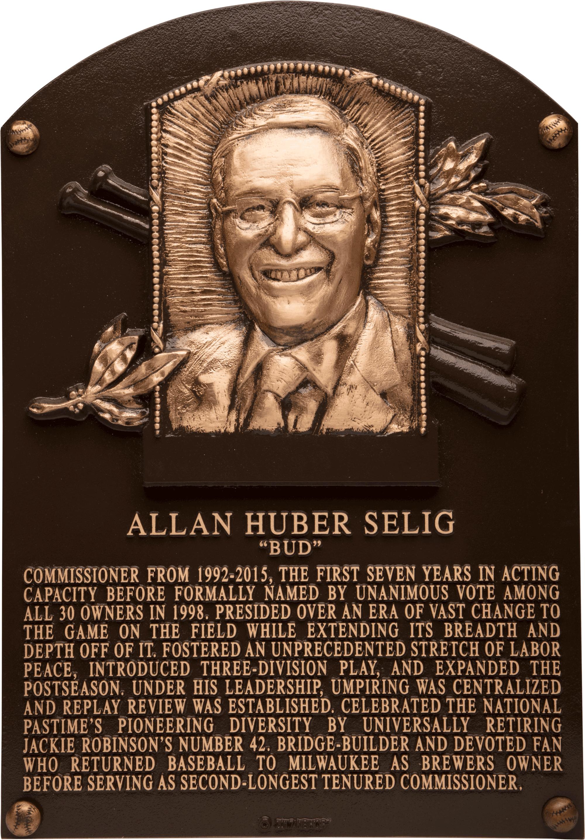 Selig Bud Baseball Hall Of Fame