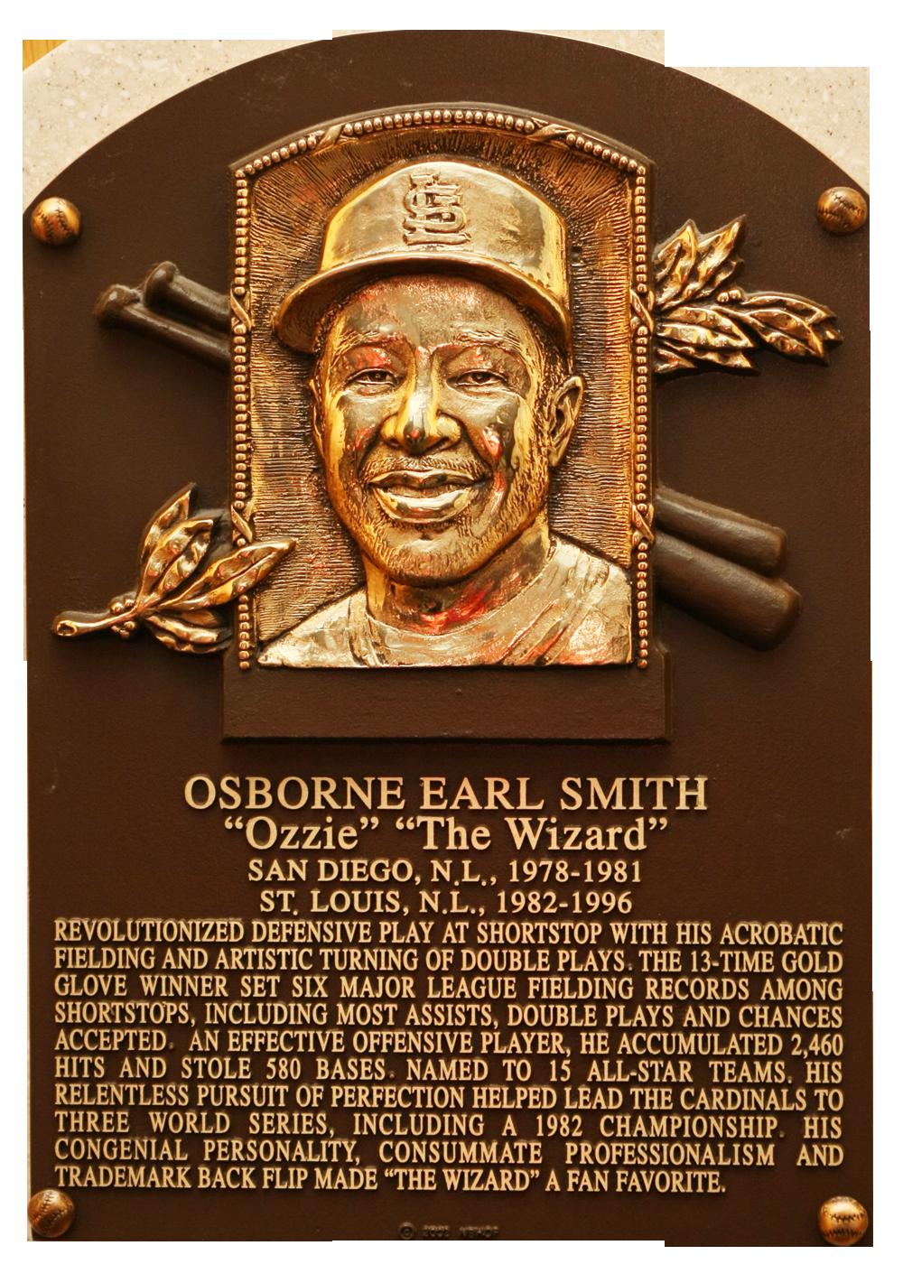 Smith Ozzie Baseball Hall Of Fame