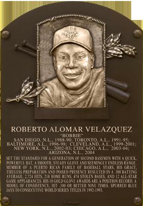Alomar Roberto Baseball Hall Of Fame