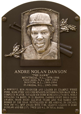 Dawson Andre Baseball Hall Of Fame