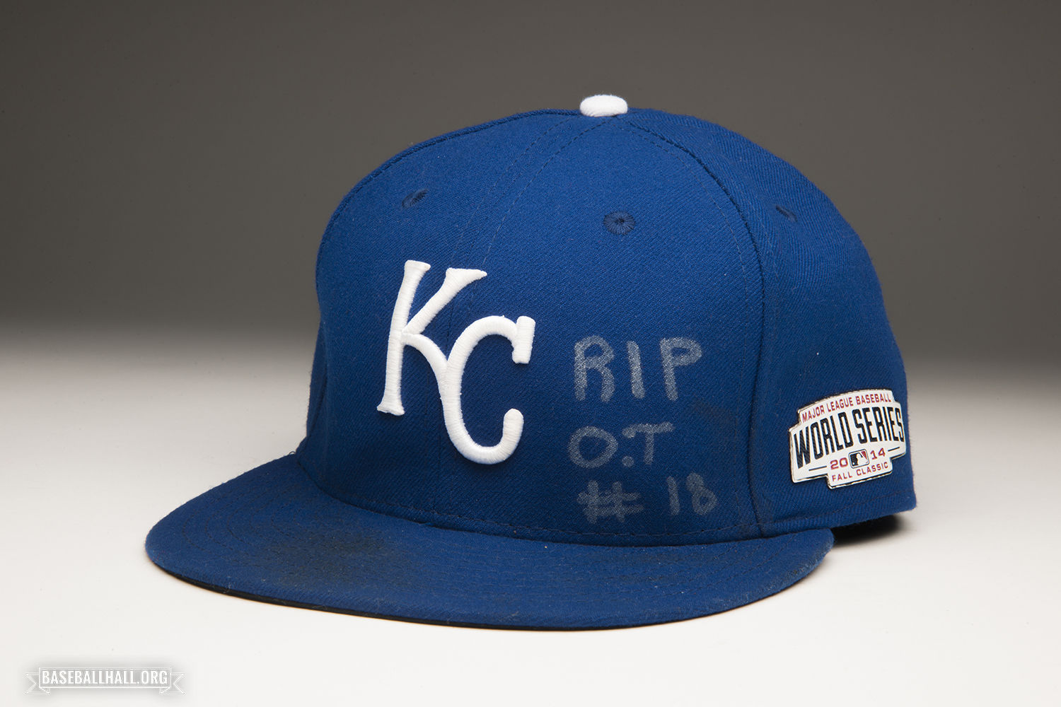 81f7aca62 Yordano Ventura donated his cap to the Hall of Fame at the conclusion of the  2014 World Series. (Milo Stewart Jr.   National Baseball Hall of Fame)