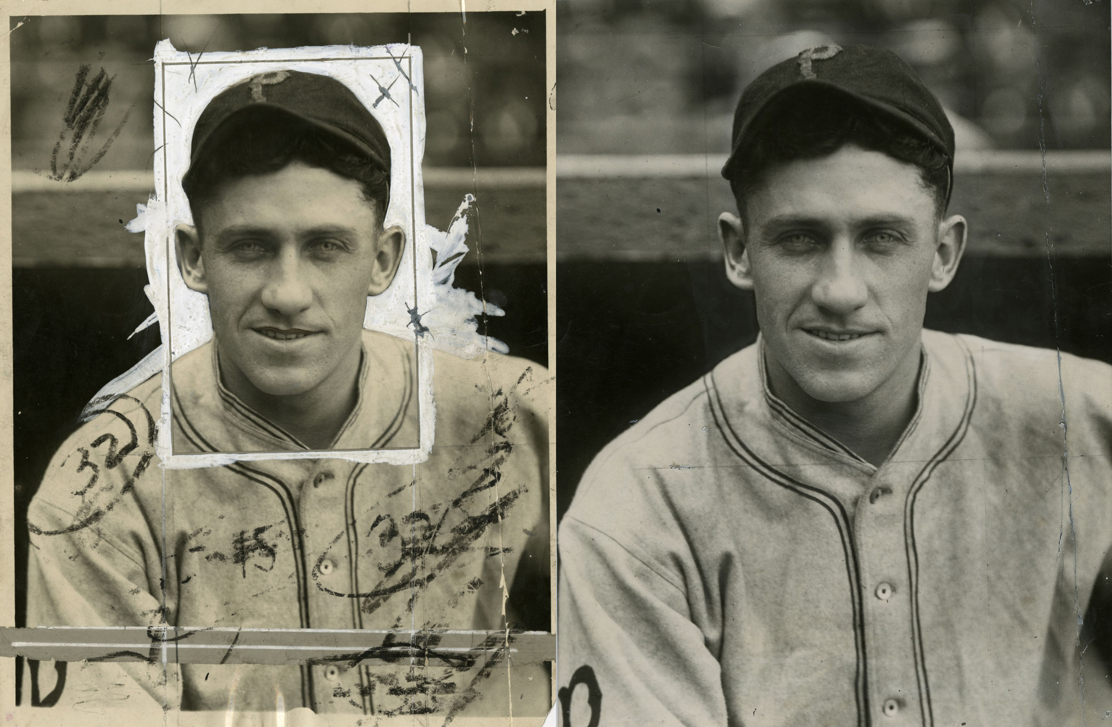 before and after a stabilized charles conlon photo of hall of famer kiki cuyler bl 1516 68wt charles m conlon national baseball hall of fame library