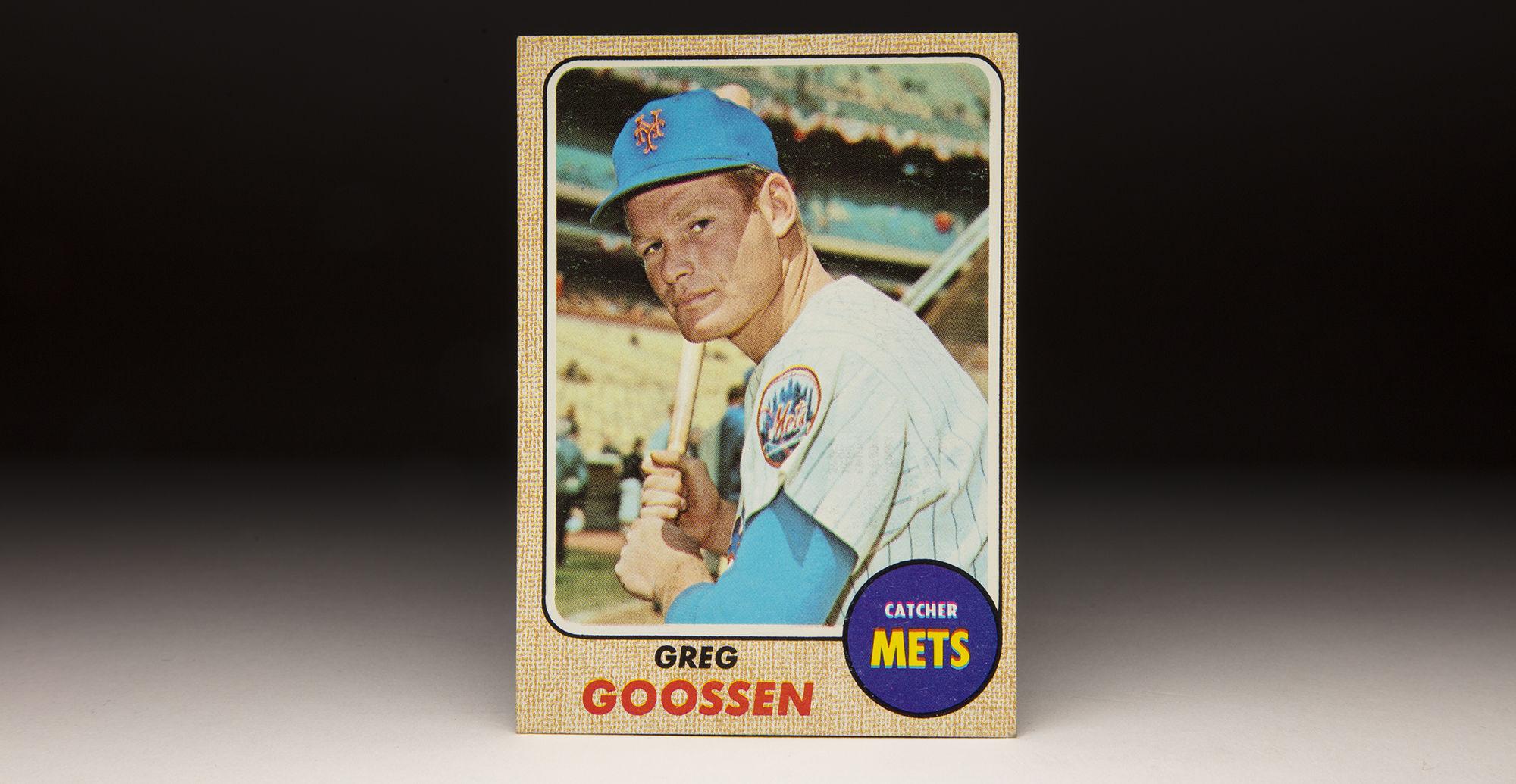 Cardcorner 1968 Topps Greg Goossen Baseball Hall Of Fame