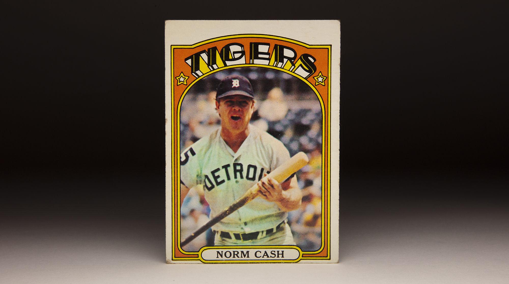 Cardcorner 1959 1972 Topps Norm Cash Baseball Hall Of Fame