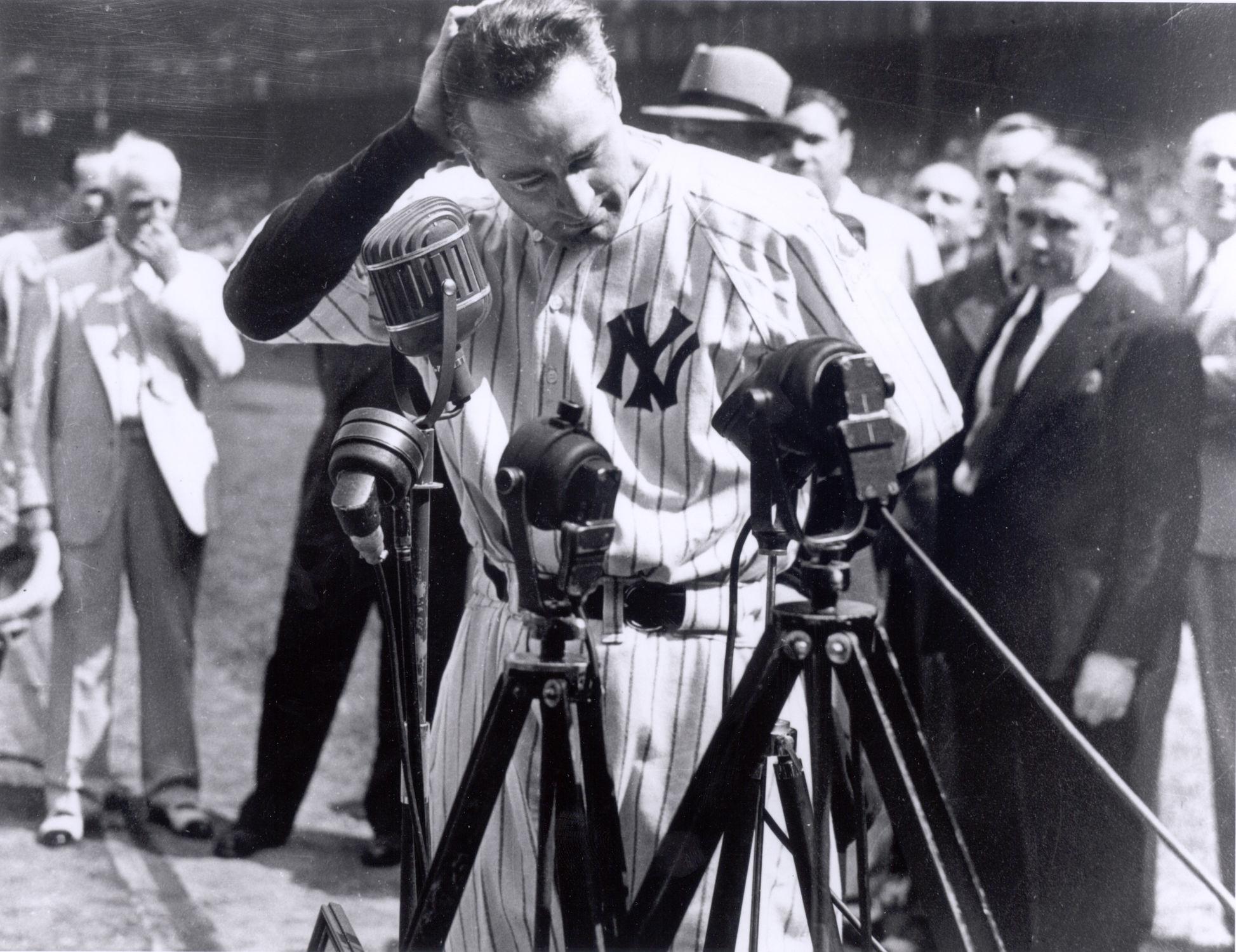 Luckiest Man Baseball Hall Of Fame