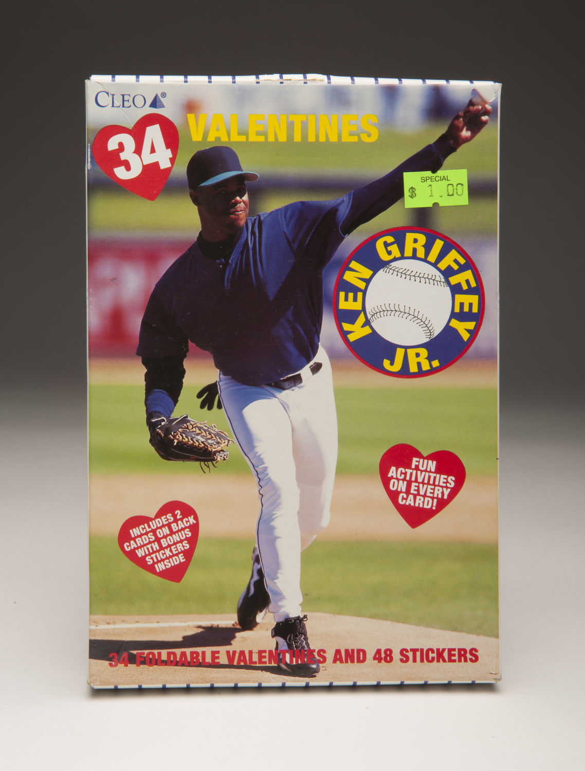 aadf4c5e93 A Ken Griffey Jr. Valentine's Day card, featuring a rare appearance on the  pitcher's mound. B-547-2011 (Milo Stewart, Jr. / National Baseball Hall of  Fame)