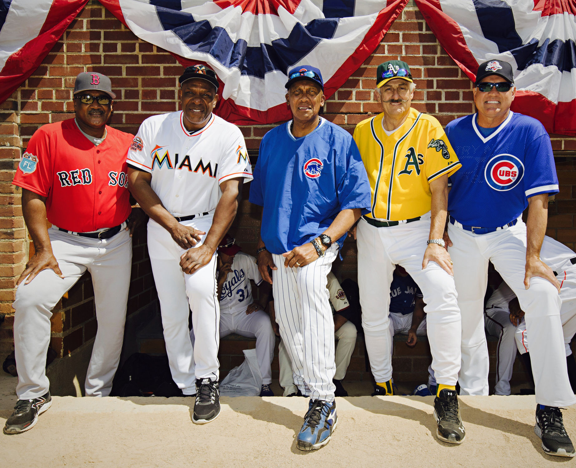 Hall of Famers Jim Rice, Andre Dawson, Fergie Jenkins, Rollie Fingers and  Ryne Sandberg managed and coached the Hall of Fame Classic. (Jean Fruth /  National ...