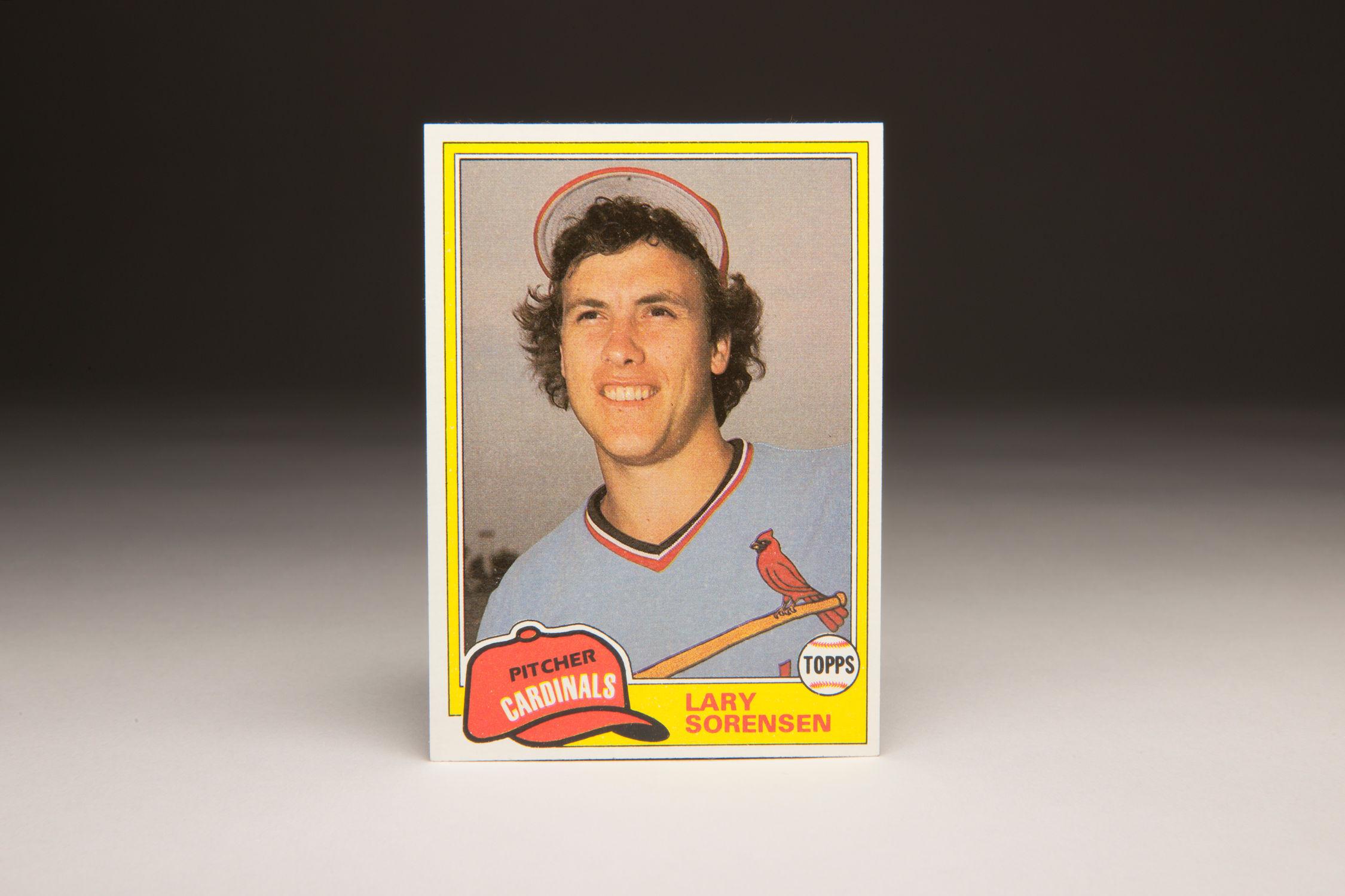 Cardcorner 1981 Topps Lary Sorensen Baseball Hall Of Fame