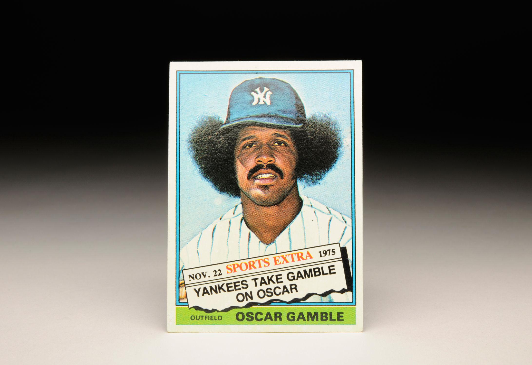 Cardcorner 1976 Topps Oscar Gamble Baseball Hall Of Fame