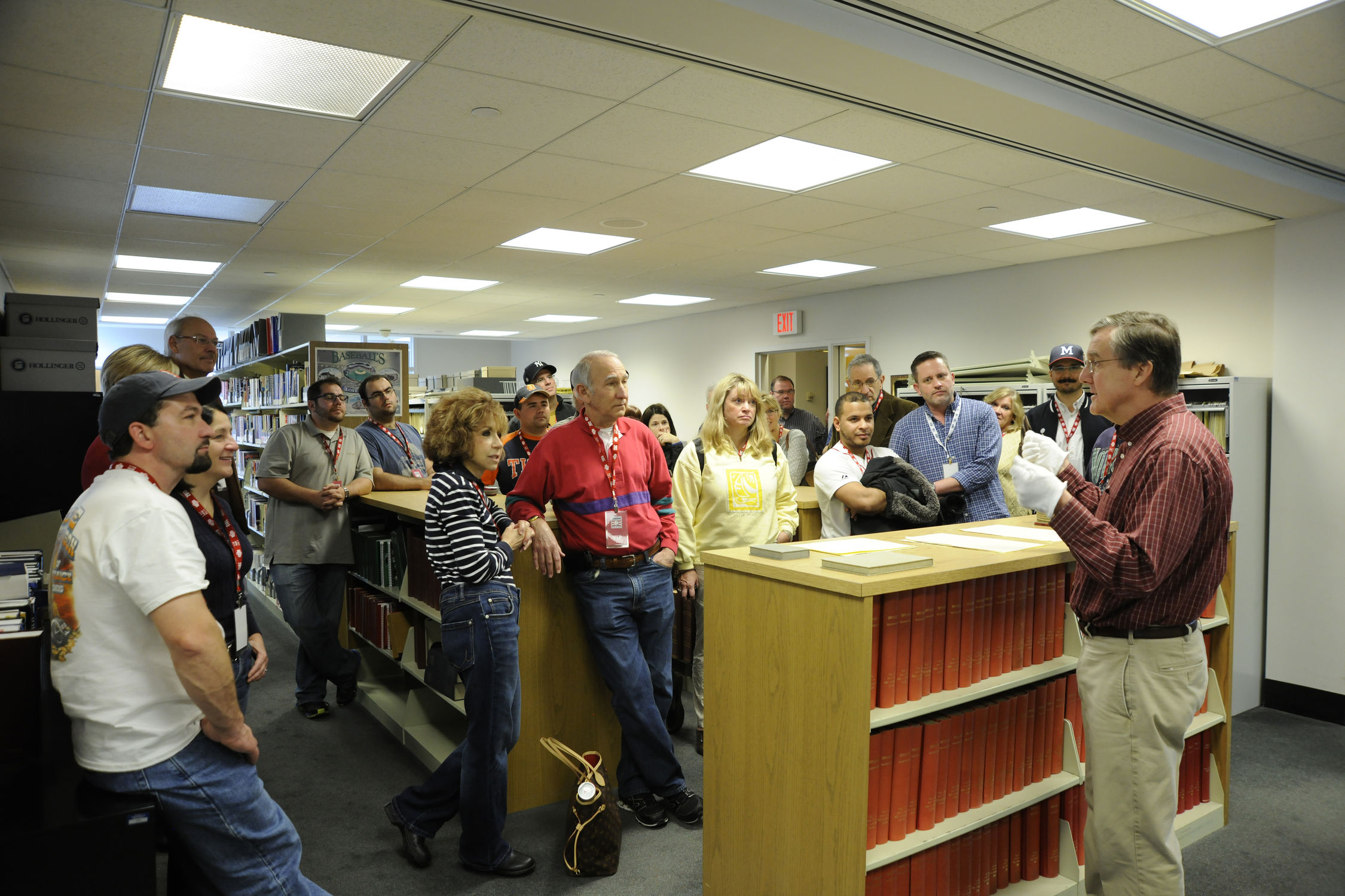 Hall Of Fame Librarian Jim Gates Gives VIP Experience Guests A Tour The Museums Giamatti