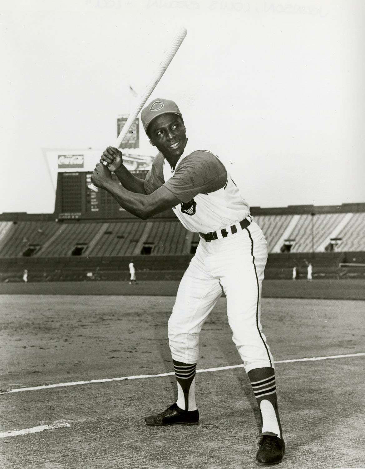 Lou Johnson Of The Cleveland Indians Posed Batting 1968 BL 1073 73 National Baseball Hall Fame Library