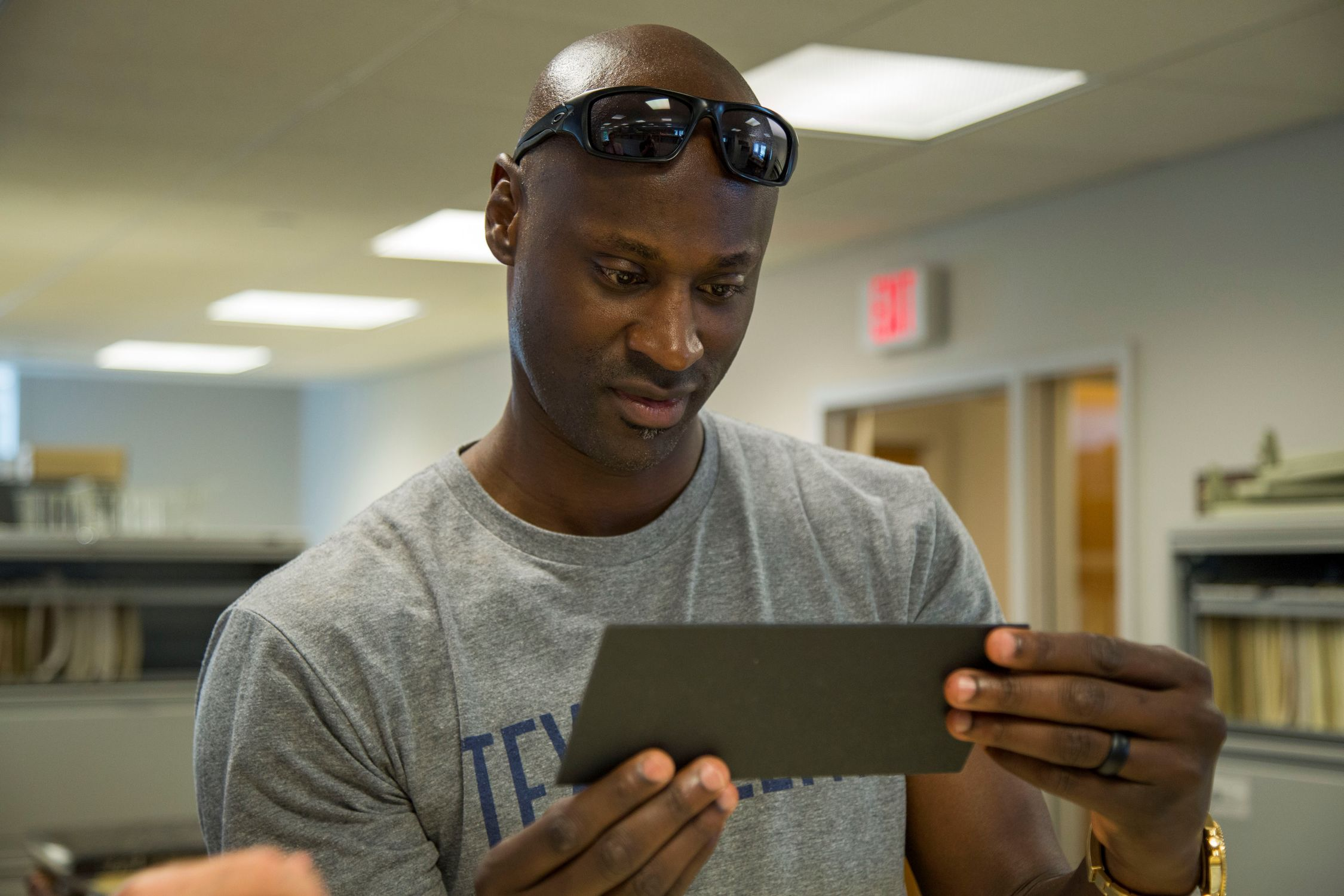 Rockies Pitcher Latroy Hawkins Visits The Hall  Baseball -5960