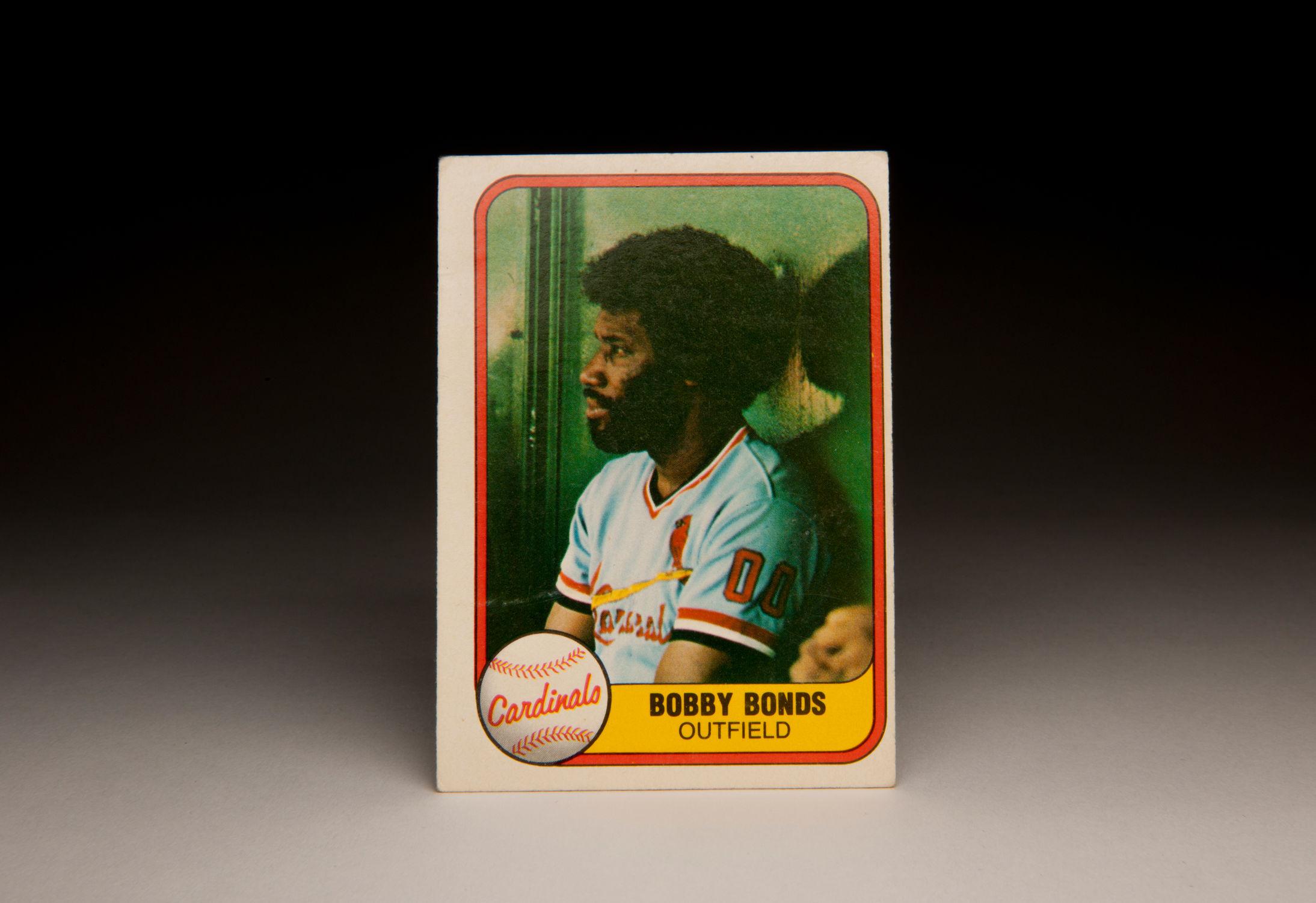 Cardcorner 1981 Fleer Bobby Bonds Baseball Hall Of Fame