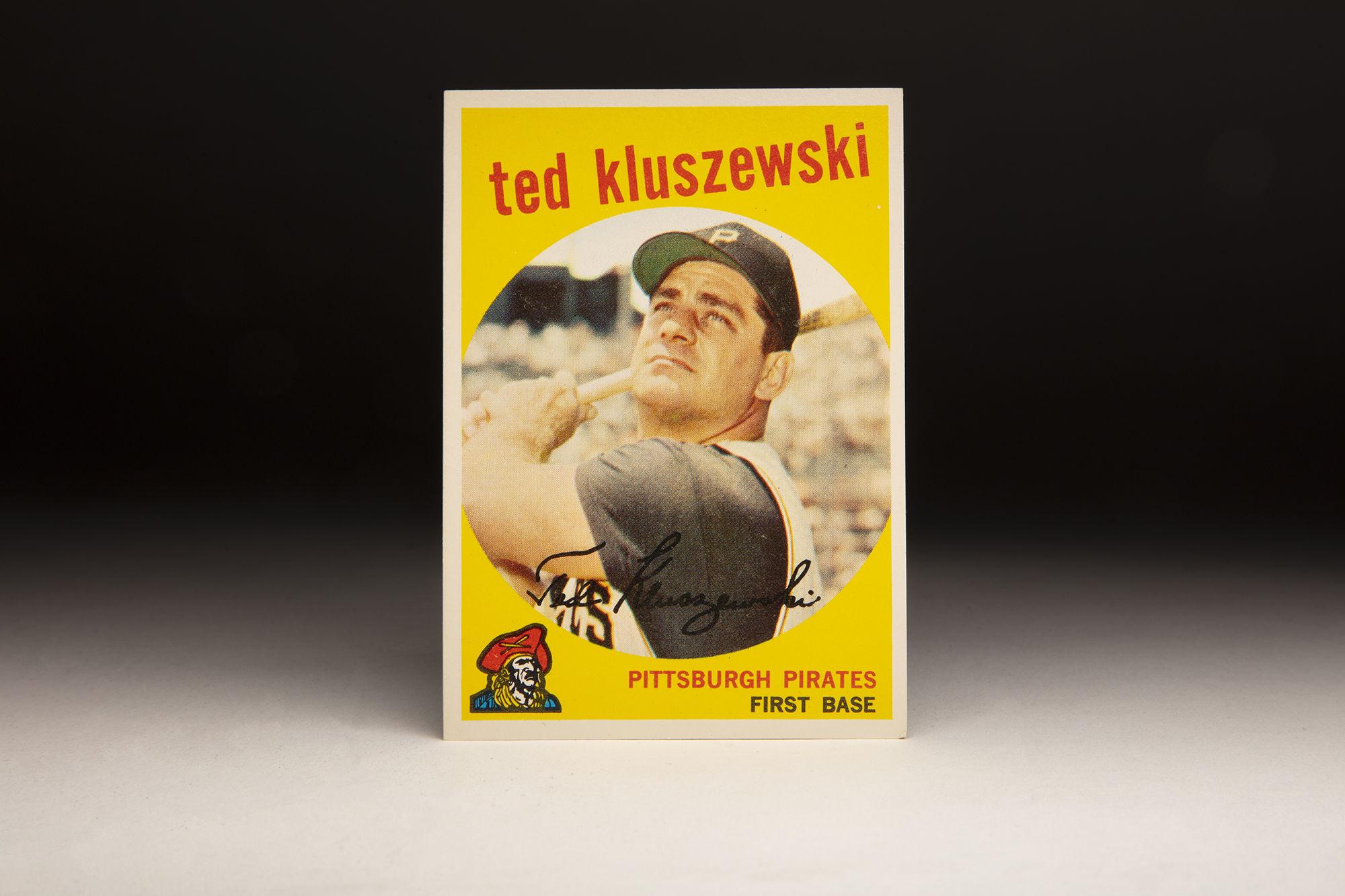 Cardcorner 1959 Topps Ted Kluszewski Baseball Hall Of Fame