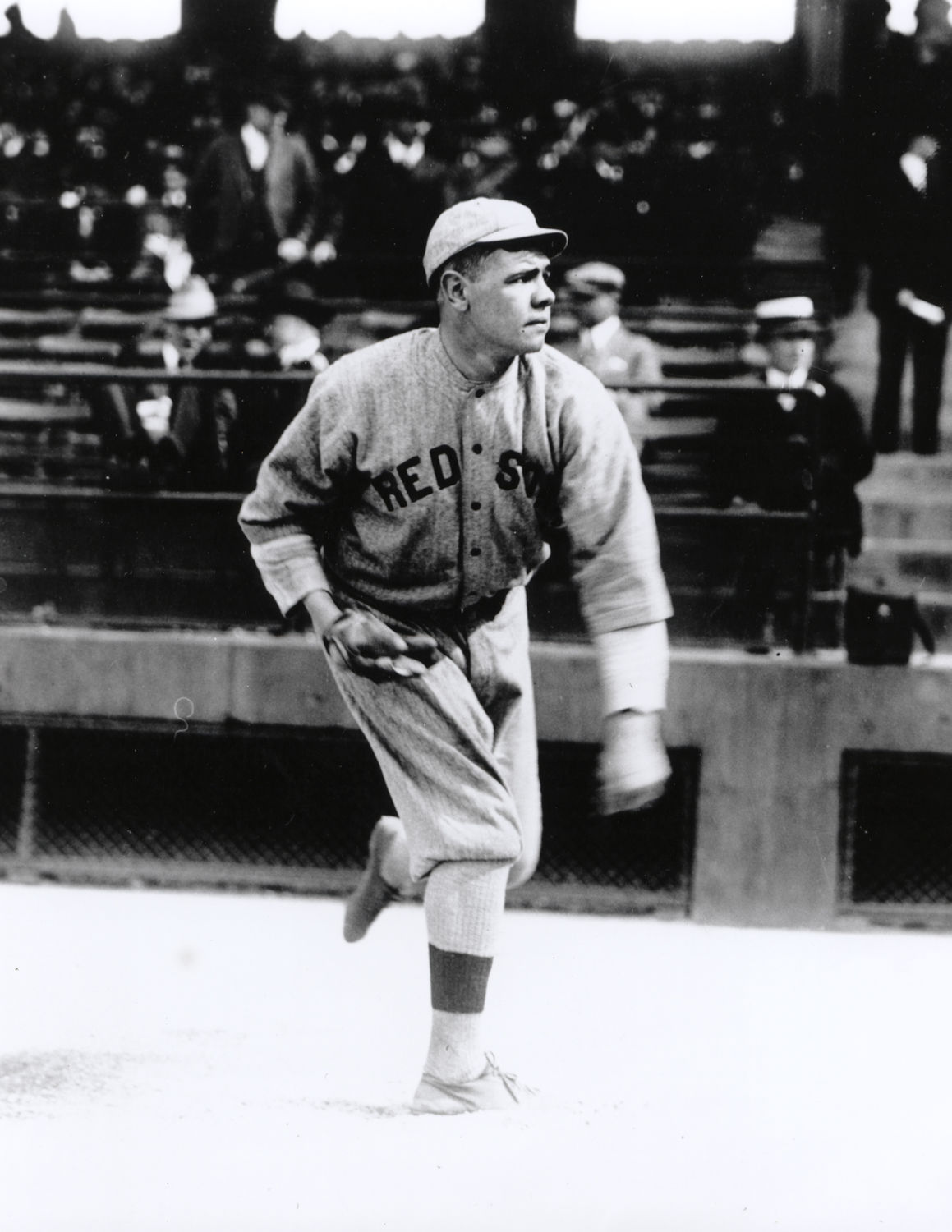 Babe Ruth Of The Red Sox Out-Duels Walter Johnson 1-0 In -8461