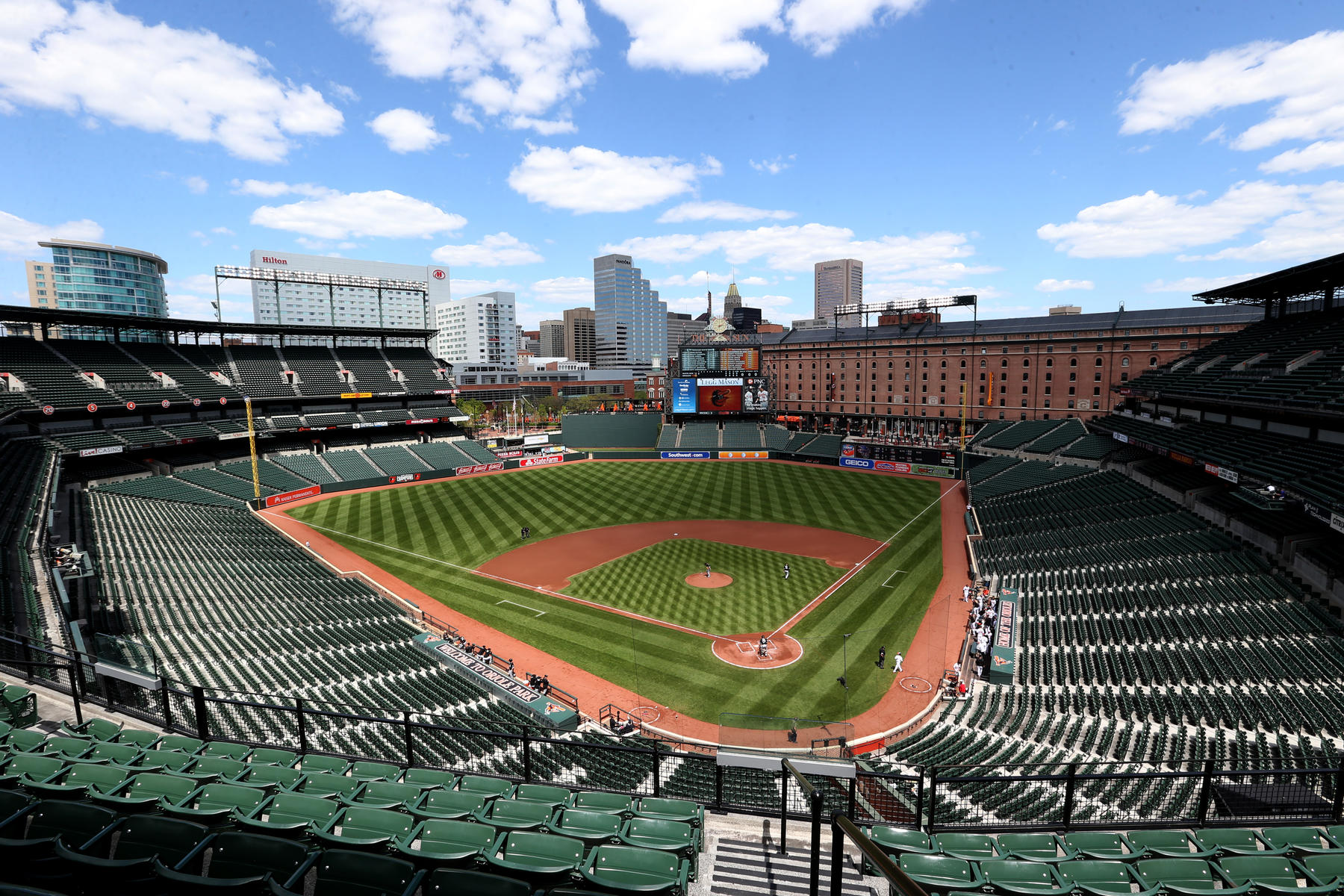 Camden Yards during the 'zero attendance' game (Todd Olszewski / Baltimore Orioles)
