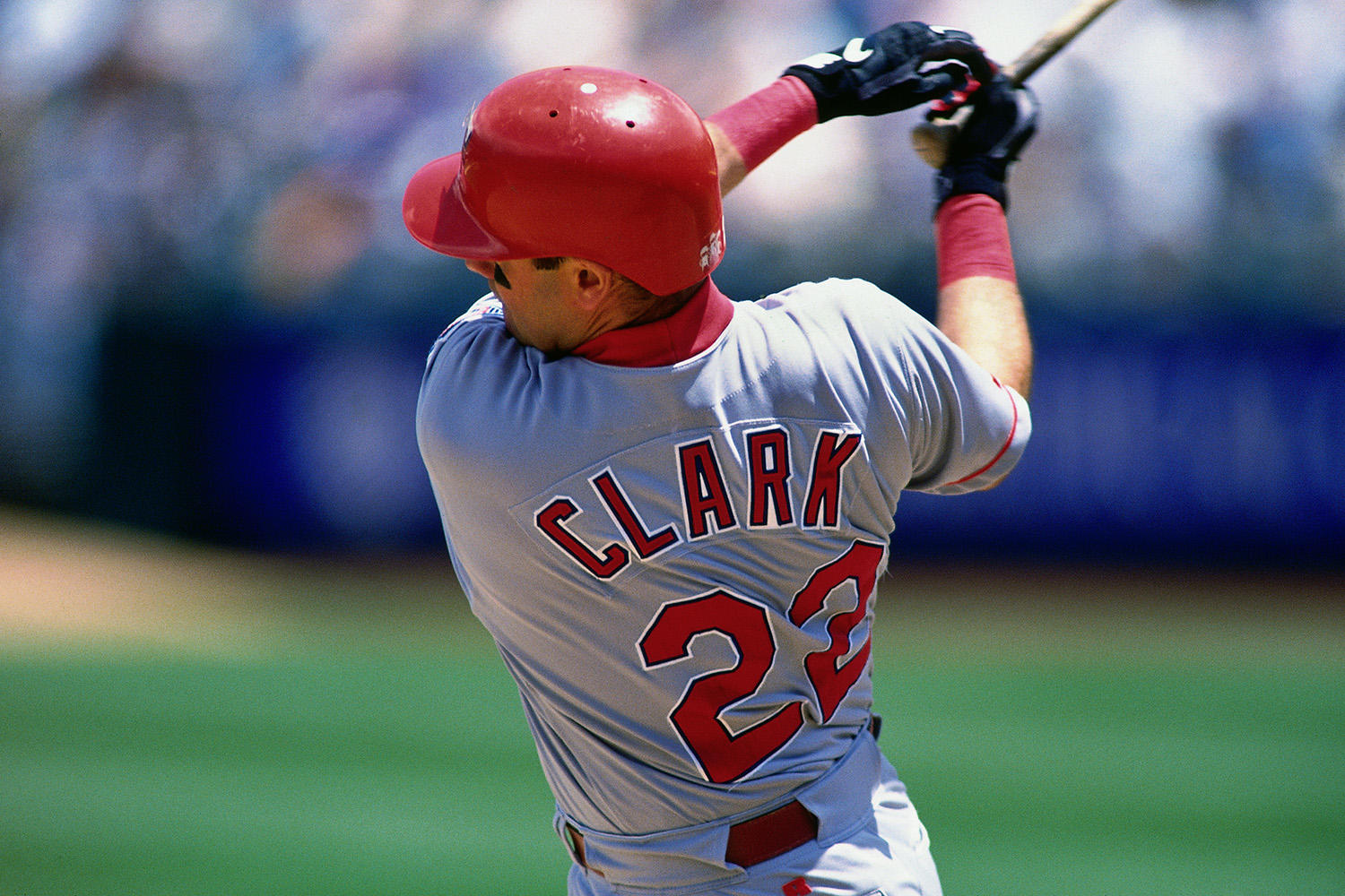 In five years with Texas, Clark hit .308 and earned his sixth All-Star Game selection. (Brad Mangin / National Baseball Hall of Fame)
