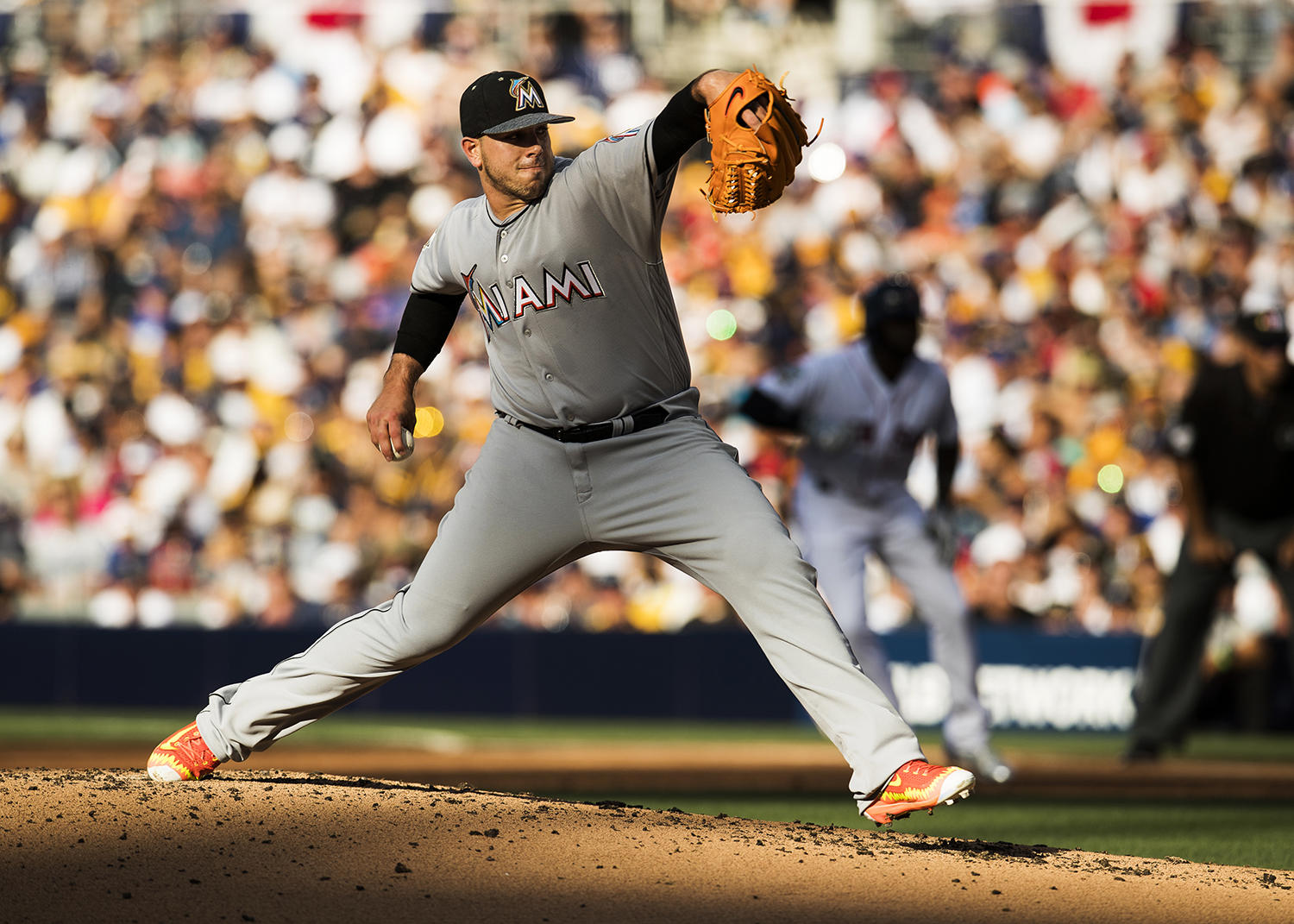 National League All- Star Jose Fernandez of the Miami Marlins pitches during the 87th Annual MLB All-Star Game at Petco Park on July 12, 2016 in San Diego, California. (Jean Fruth / National Baseball Hall of Fame)