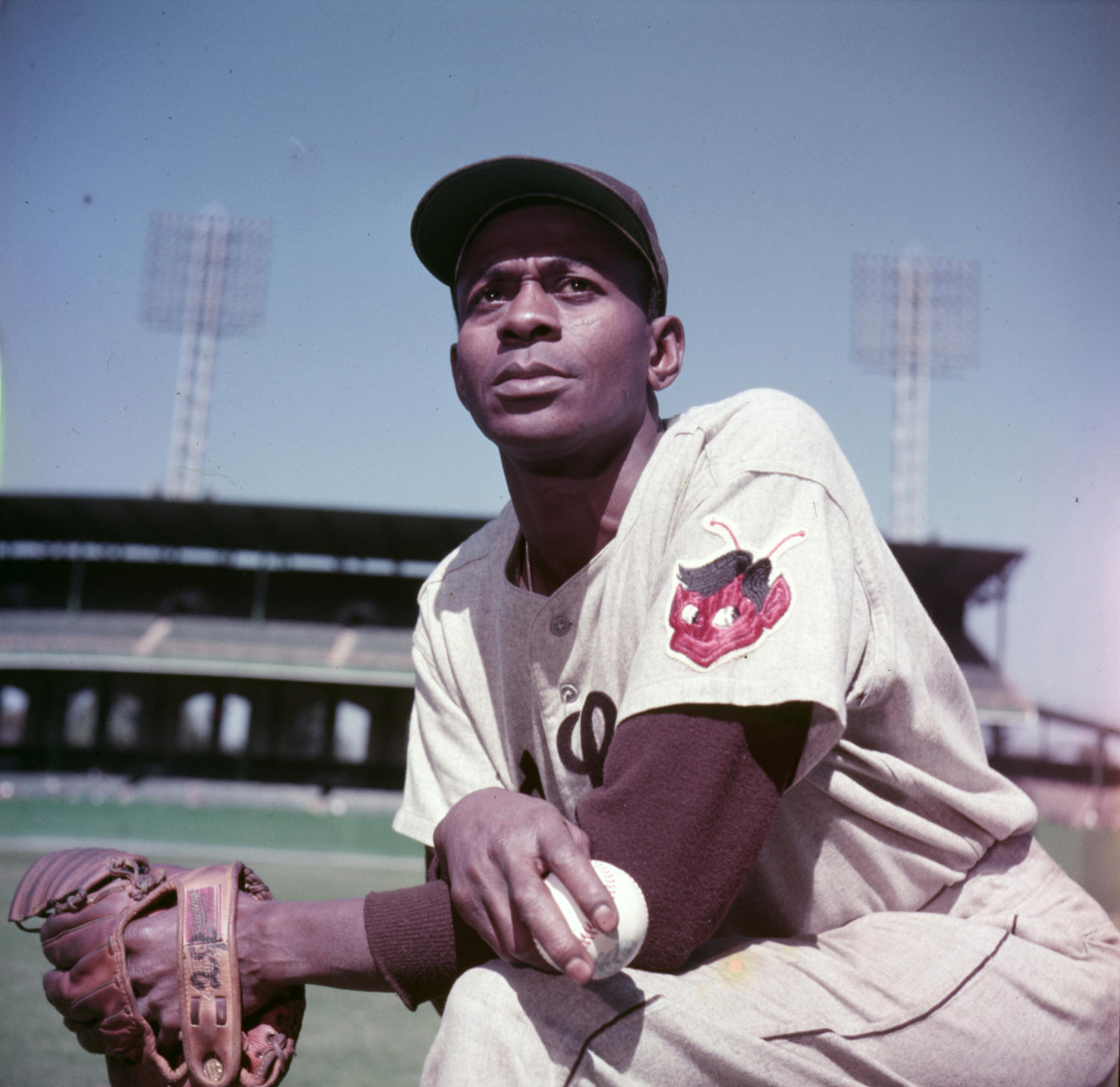 Satchel Paige spent three seasons with the St. Louis Browns from 1951-1953, earning a spot on All-Star Game rosters in both 1952 and 1953. (Look / National Baseball Hall of Fame and Museum)