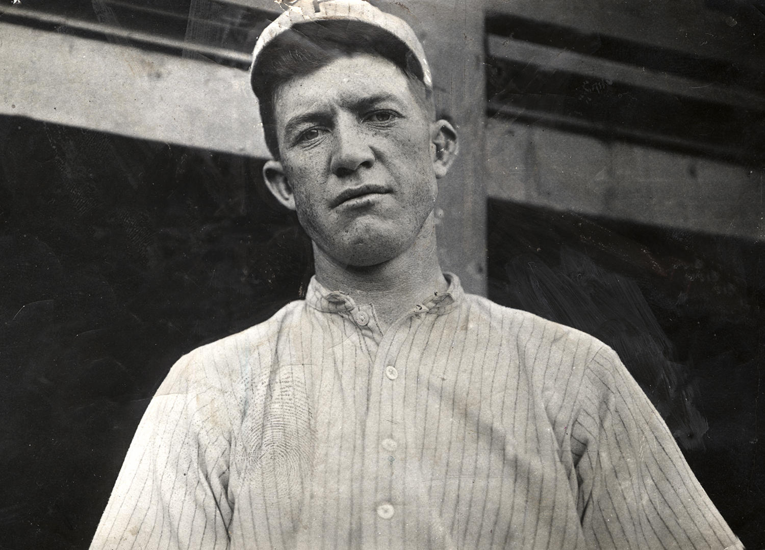 Grover Cleveland Alexander began his professional baseball career in 1911 at the age of 24 as a pitcher for the Philadelphia Phillies. He led all of baseball in wins his rookie year, with 28. (National Baseball Hall of Fame and Museum)