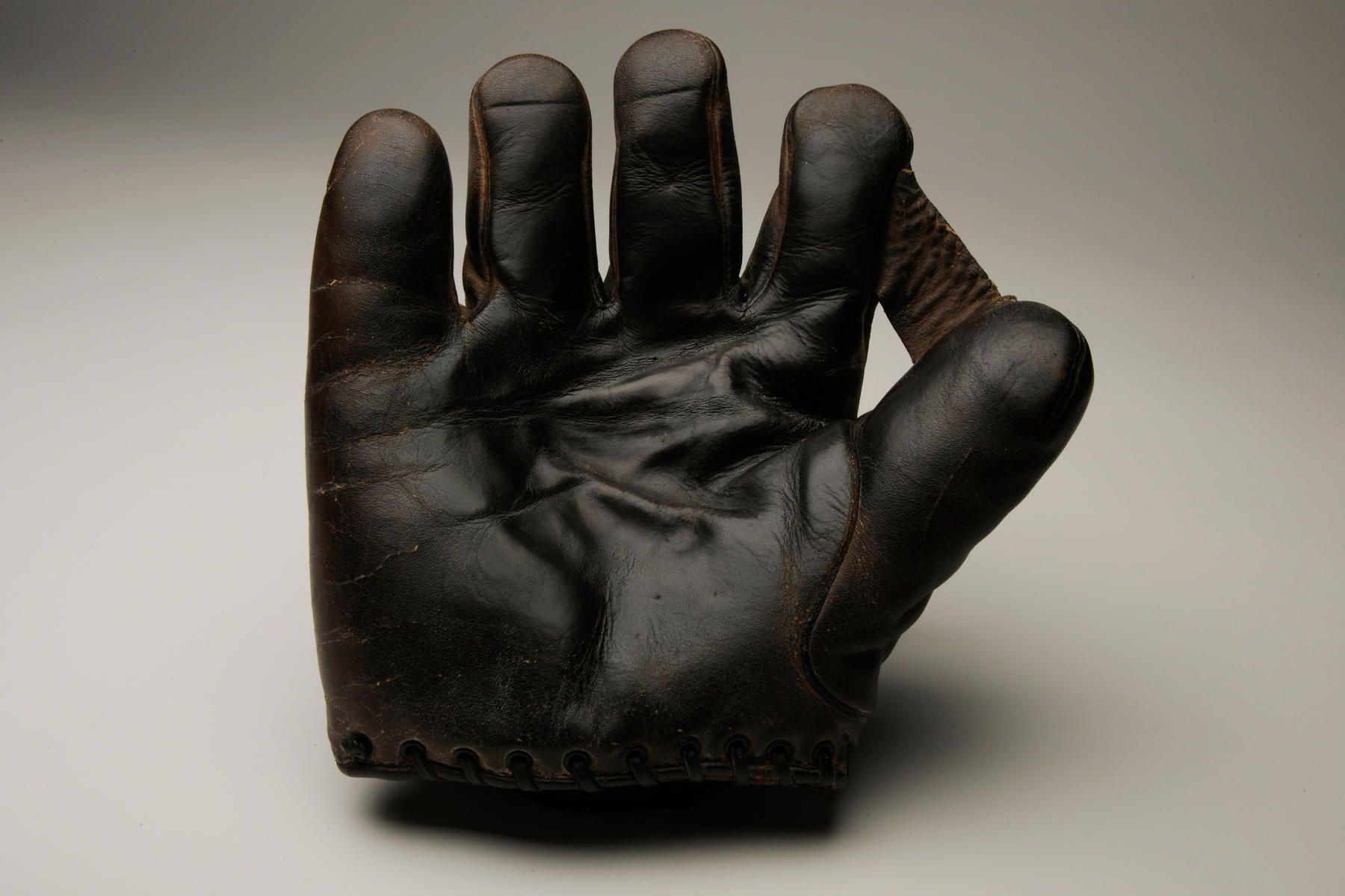 Glove used by Babe Ruth during the 1926 World Series. B-15-49b (Milo Stewart Jr. / National Baseball Hall of Fame)