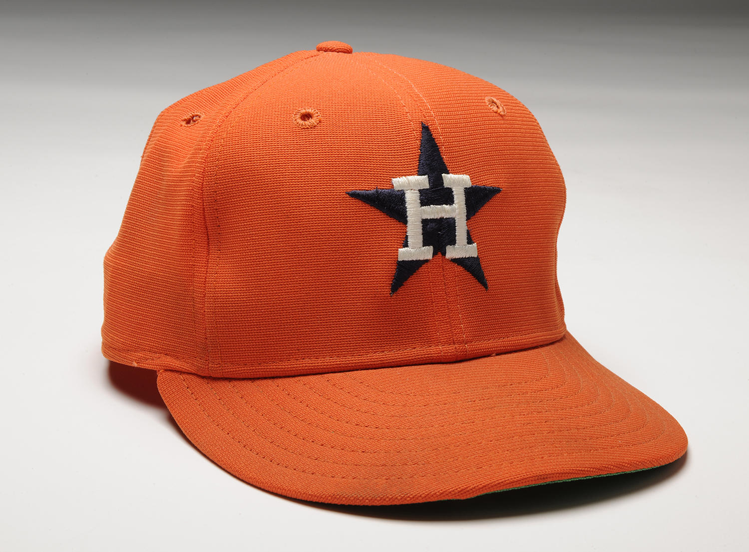 "This cap, worn by Nolan Ryan while pitching his fifth no-hitter on Sept. 26, 1981, is currently on display in the ""We Are Baseball"" nationwide tour. (Milo Stewart Jr. / National Baseball Hall of Fame)"