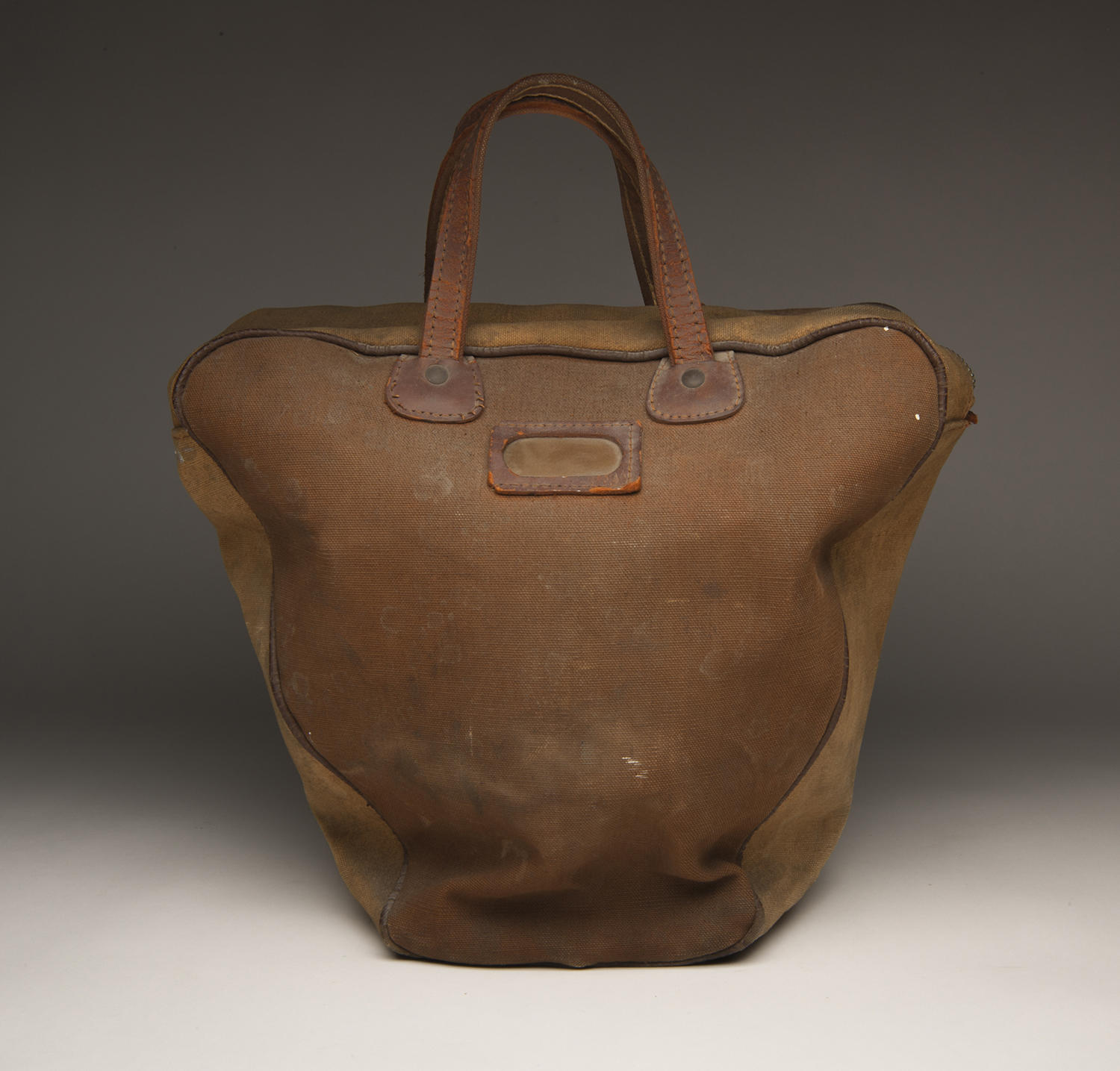 One of two bowling balls with accompanying bags in the Museum collection, this bowling bag needs conservation treatment. (Milo Stewart Jr. / National Baseball Hall of Fame and Museum)