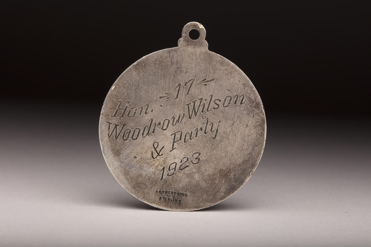 The reverse side of Woodrow Wilson's 1923 Polo Grounds pass. (Milo Stewart Jr./National Baseball Hall of Fame and Museum)
