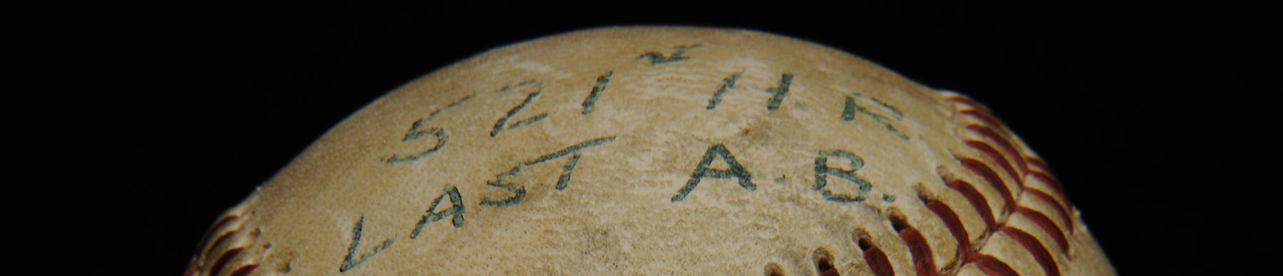 Detail of ball from Ted Williams' last home run - B-172-60 (National Baseball Hall of Fame Library)