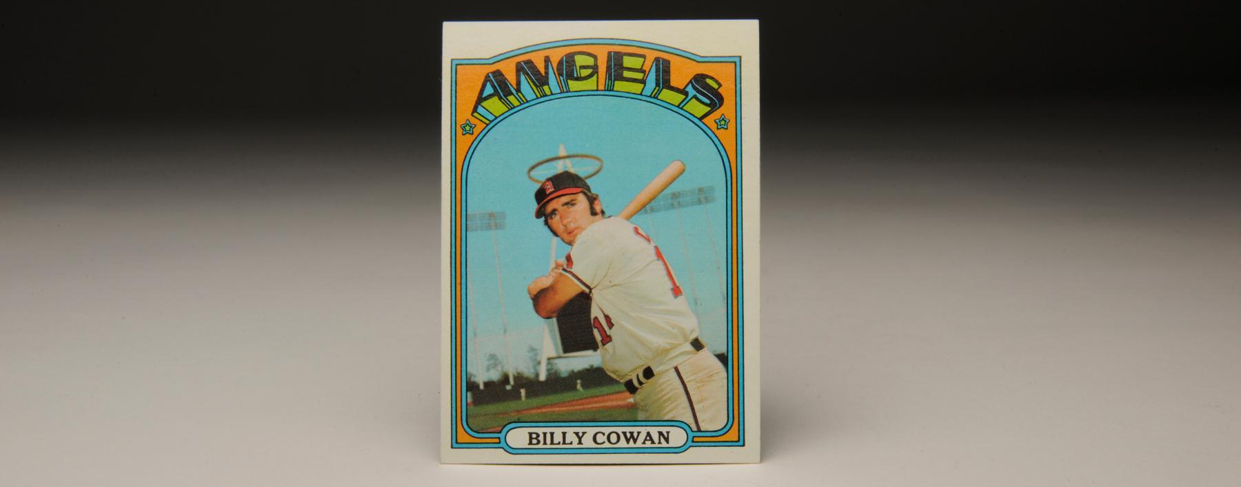 The angelic 1972 Bill Cowan Topps card. (Milo Stewart, Jr. / National Baseball Hall of Fame)