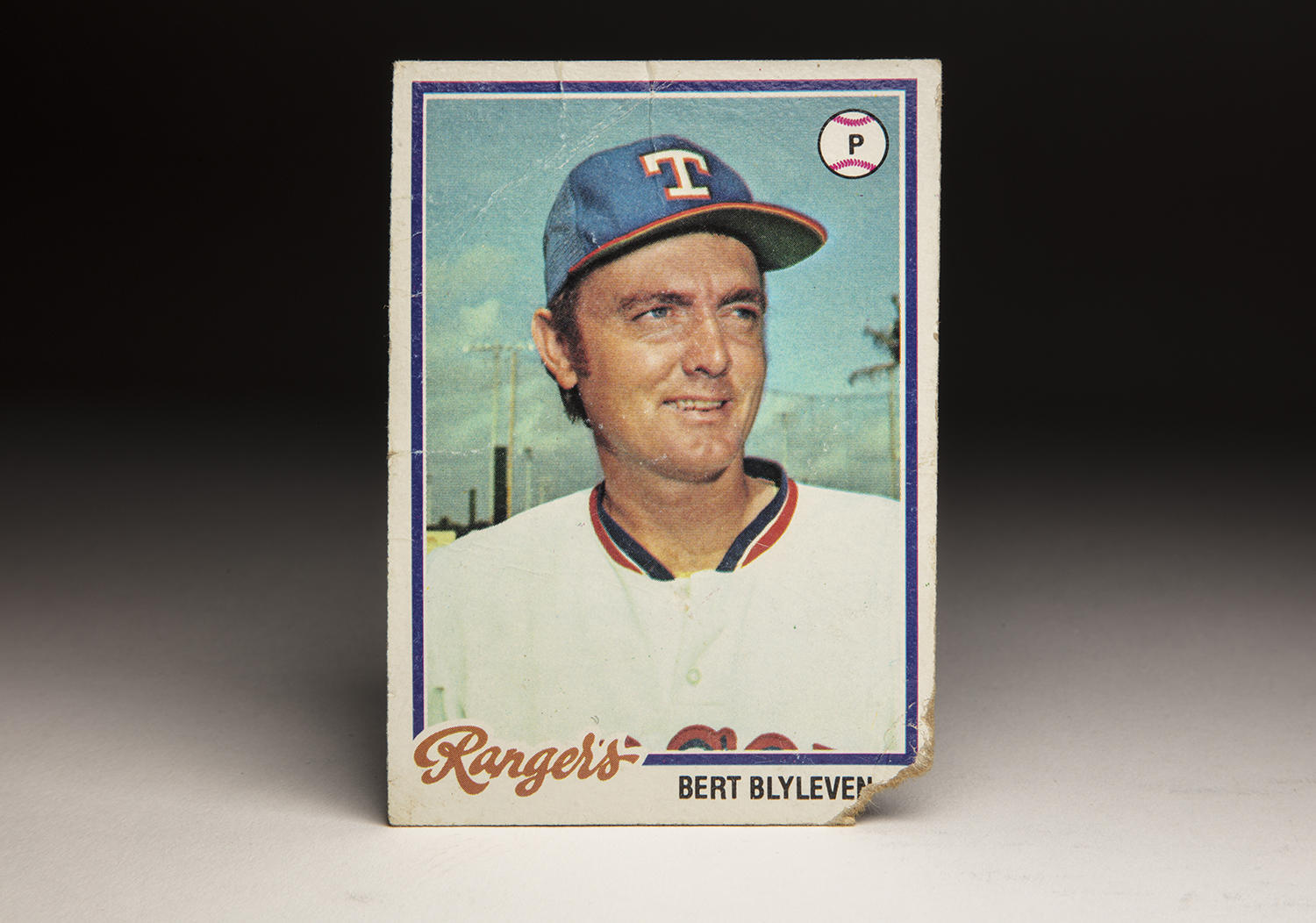 Bert Blyleven's 1978 Topps card featured him in a Rangers uniform – even though by then he had been traded to the Pittsburgh Pirates. (Milo Stewart Jr. / National Baseball Hall of Fame and Museum)