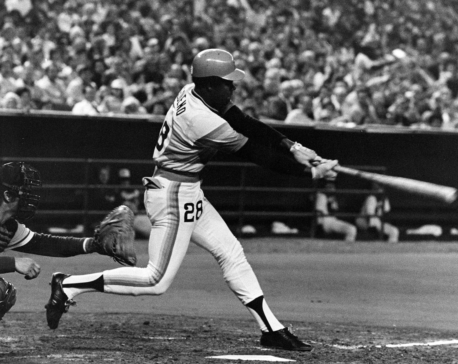César Cedeño led all of baseball in doubles for two consecutive seasons (1971-72) during his stint with the Houston Astros. (National Baseball Hall of Fame and Museum)