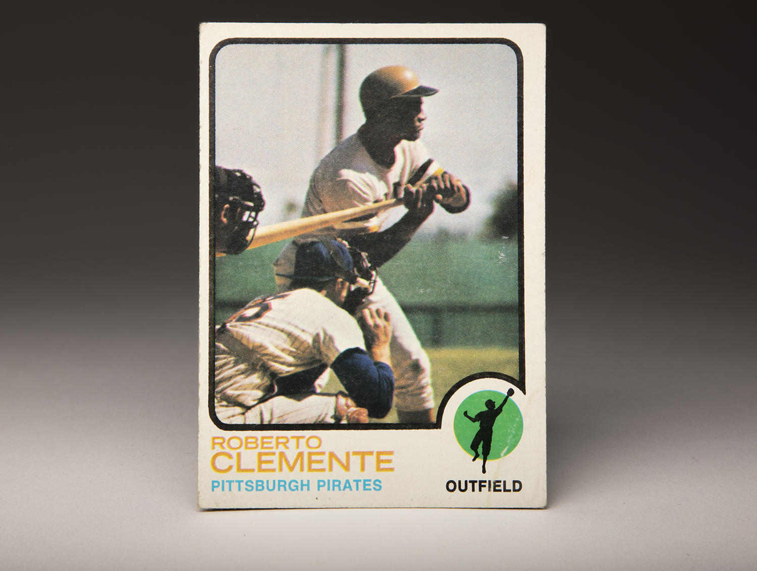 By the time Roberto Clemente's 1973 Topps card hit stores, the world was mourning his tragic passing. But the Topps company decided to keep the card in circulation as a tribute to the future Hall of Famer. (By Photographer Milo Stewart Jr. / National Baseball Hall of Fame and Museum)