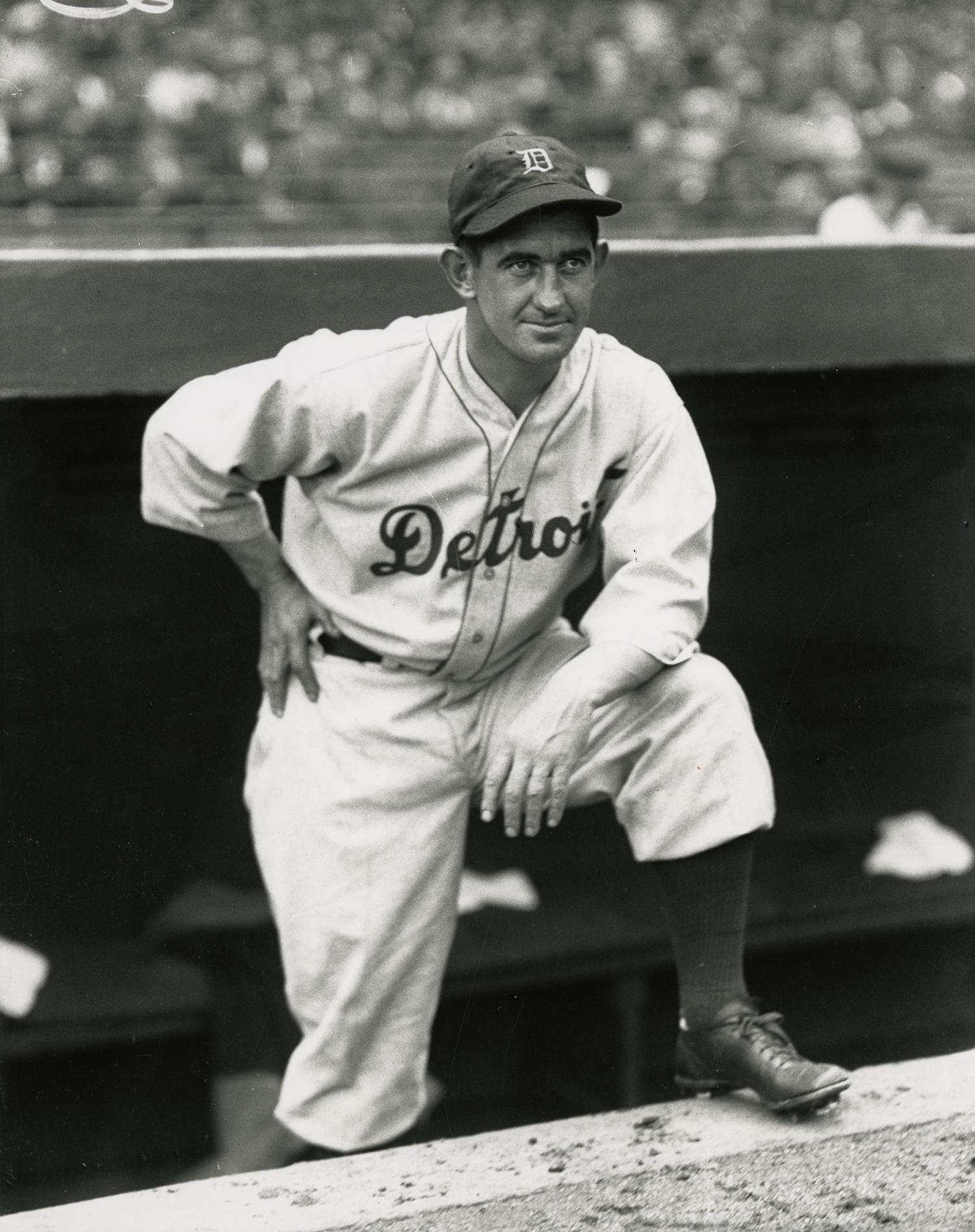 Mickey Cochrane's Hall of Fame playing career came to an end after he was beaned by a pitcher in 1937. The impetus for yellow baseballs came from New York color engineer Frederic H. Rahr, who developed it after Cochrane's accident. (National Baseball Hall of Fame and Museum)