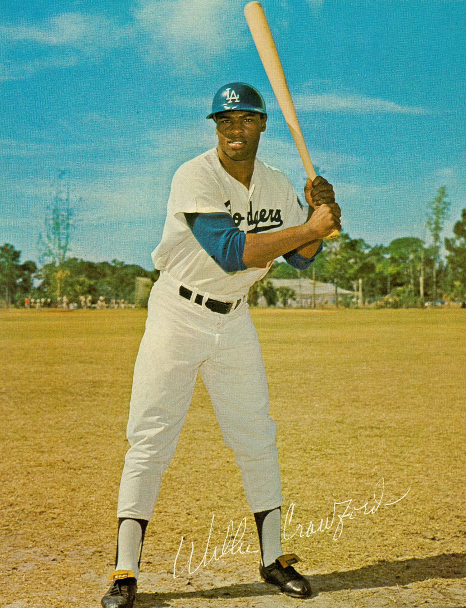 The Athletics tried to sign Willie Crawford as an amateur, but lost out to the Los Angeles Dodgers, a team Crawford would play for from 1964-1975. (National Baseball Hall of Fame)