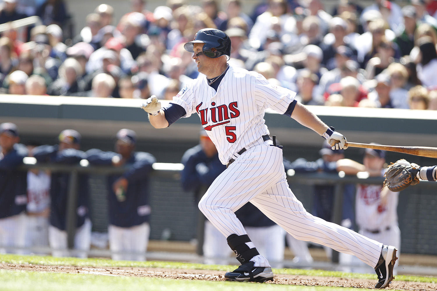 Michael Cuddyer started his career with the Minnesota Twins in 2001 and would play with the team for 11 seasons. (MN Twins / Photographer Bruce Kluckhohn)