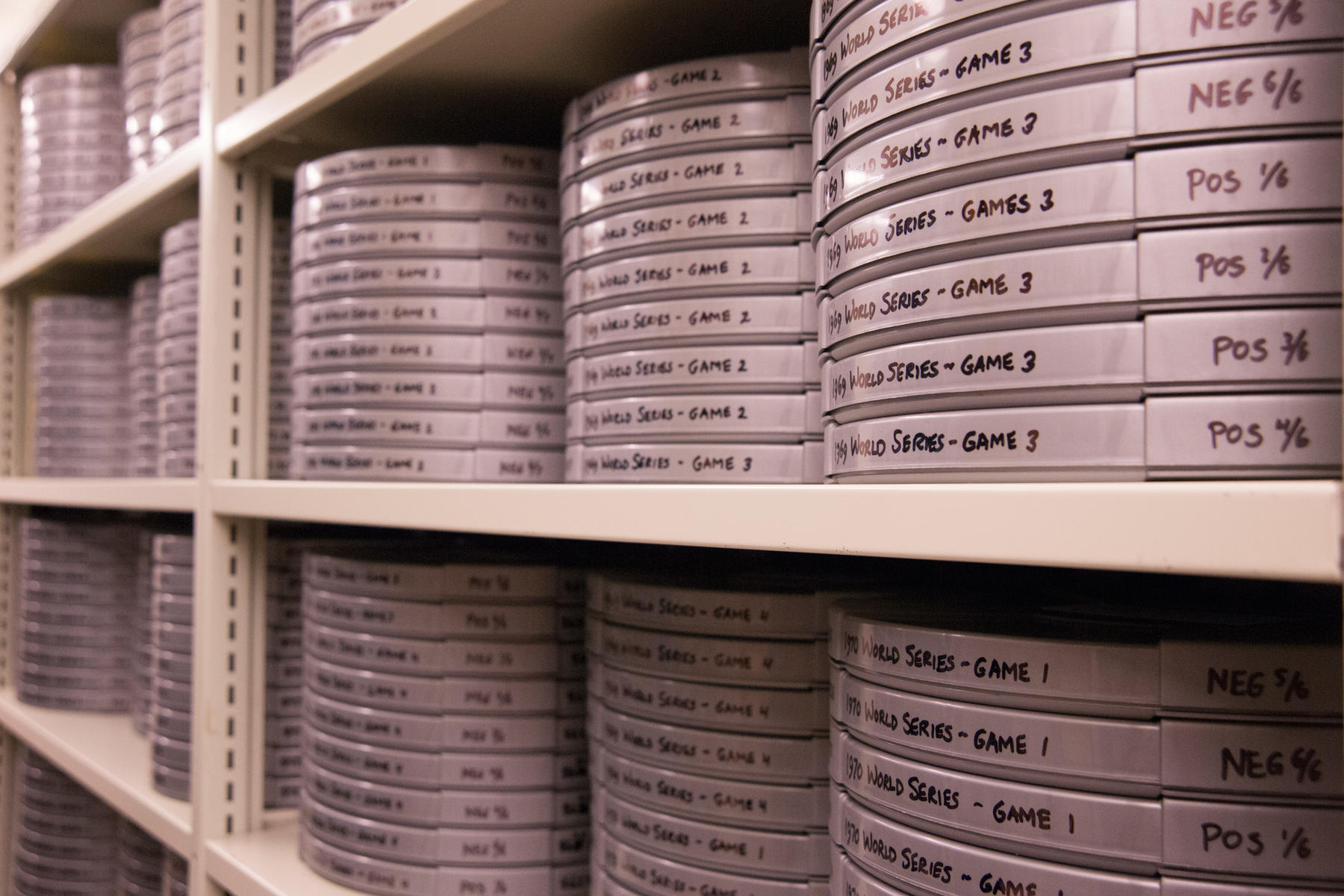 The Recorded Media Collection contains approximately 14,000 hours of moving images and sound recordings. (Milo Stewart, Jr. / National Baseball Hall of Fame)