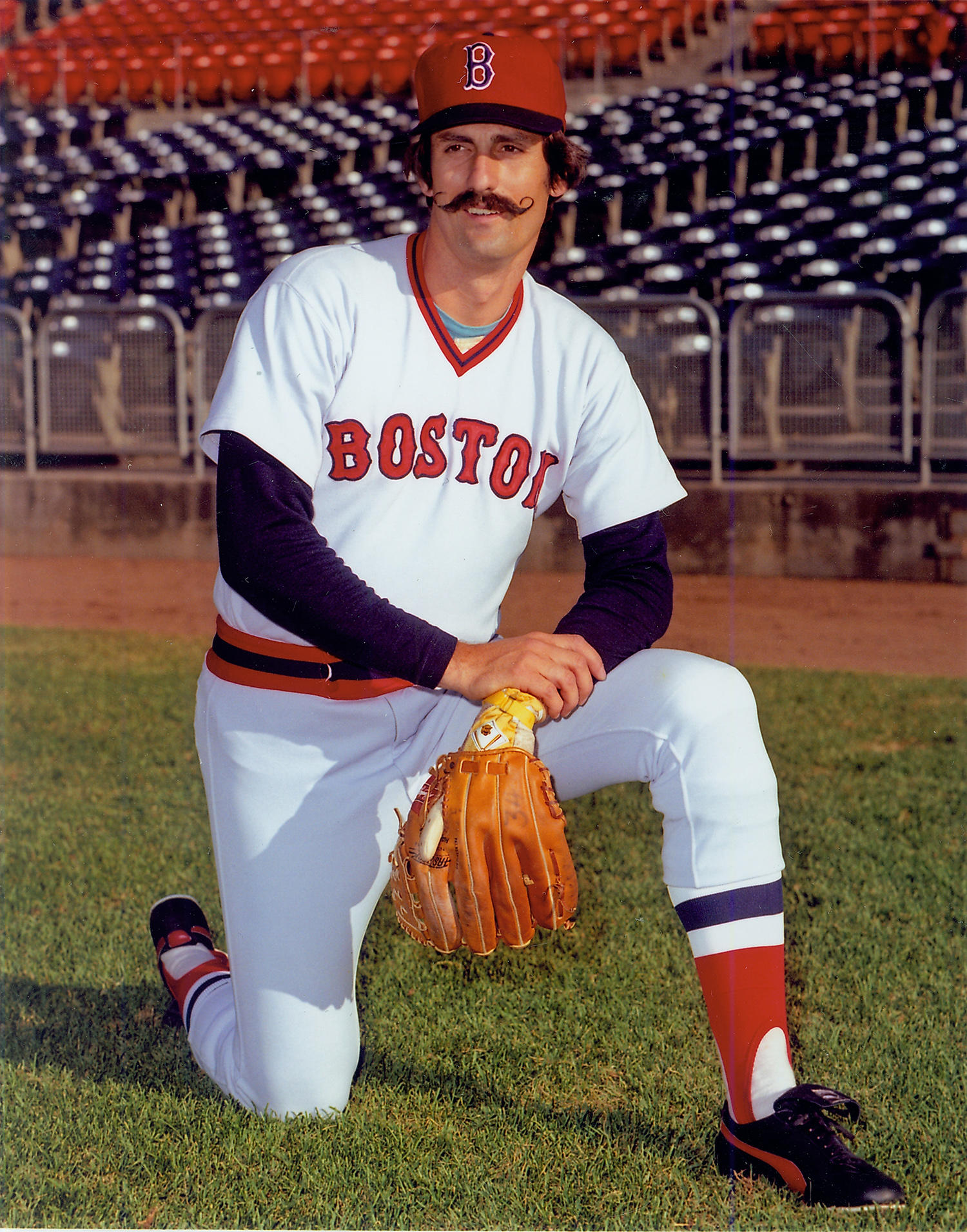 Doug McWilliams, a former photographer for Topps, captured the only known images of Rollie Fingers as a member of the Red Sox. McWilliams donated these images, and more, to the Hall of Fame in 2010. (Doug McWilliams / National Baseball Hall of Fame)
