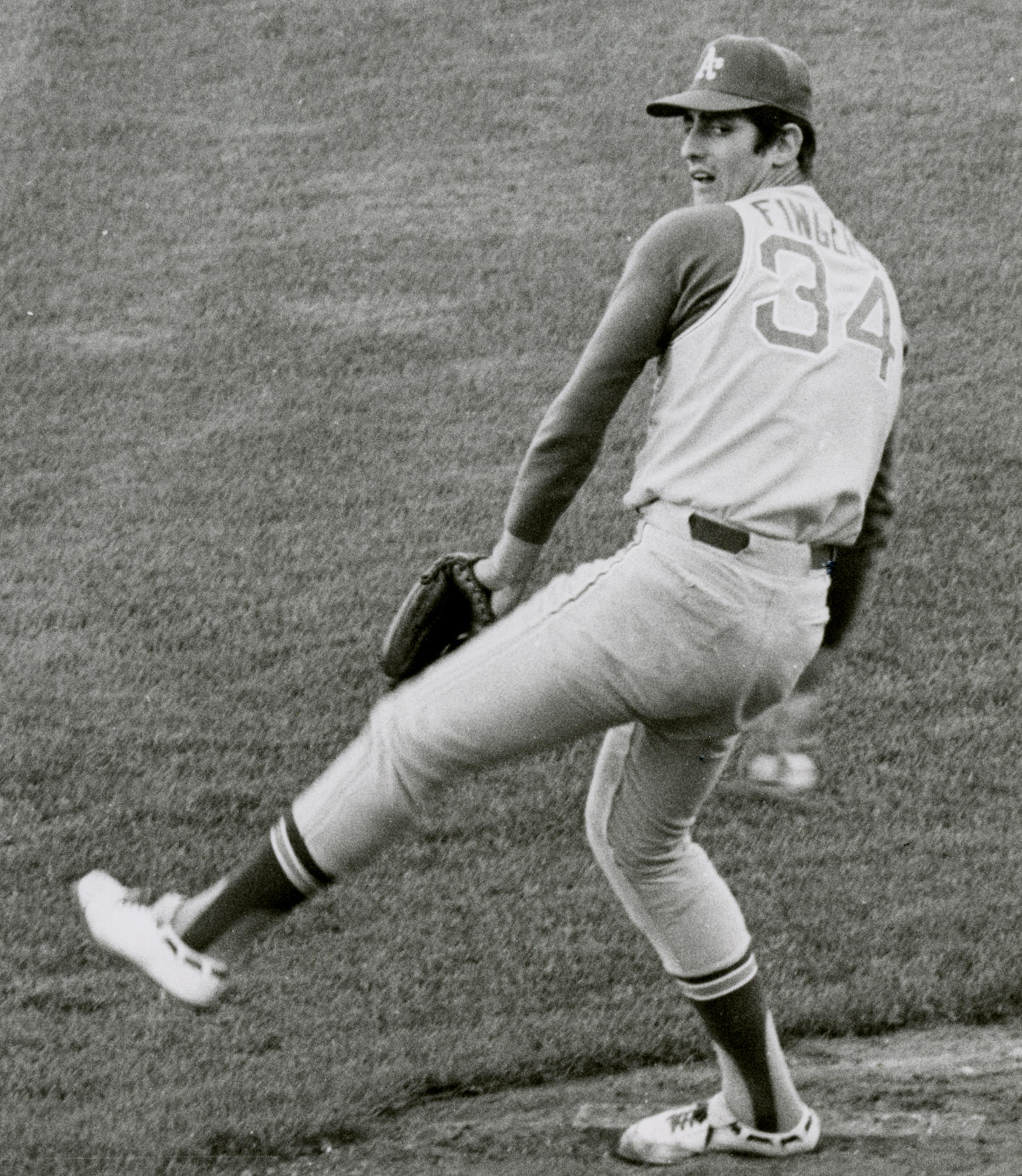Rollie Fingers was a key contributor to the Oakland Athletics teams that three-peated as world champions from 1972-74. He was the World Series MVP in 1974. (Doug McWilliams / National Baseball Hall of Fame and Museum)