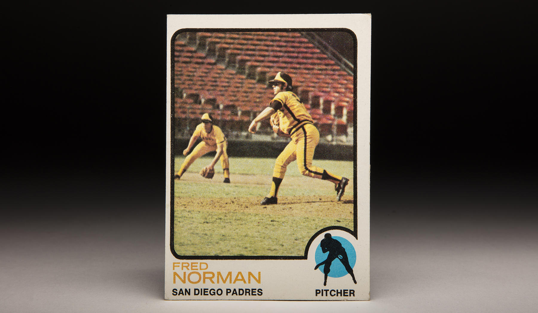 Fred Norman pitched for the Padres from 1971-73 before being traded to the Reds, where he enjoyed his greatest success. He is shown here on a 1973 Topps card. (Milo Stewart Jr./National Baseball Hall of Fame and Museum)