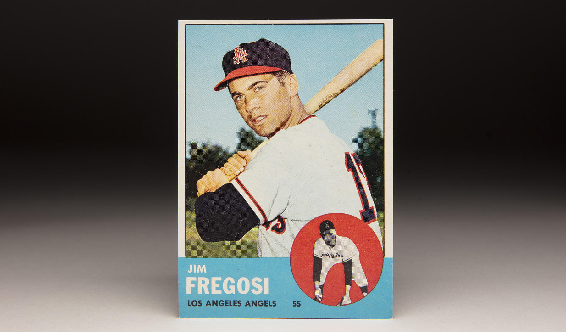 Jim Fregosi debuted with the Angels in 1961 and found himself on the 1963 Topps set after a promising rookie campaign in 1962. (Milo Stewart Jr./National Baseball Hall of Fame and Museum)