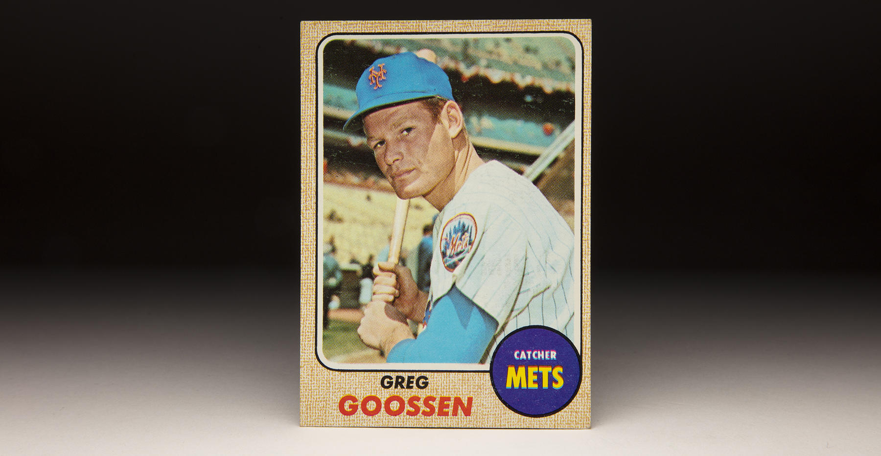Greg Goossen's 1968 Topps card shows him as a member of the Mets, for whom he played four of his six big league seasons. (Milo Stewart Jr./National Baseball Hall of Fame and Museum)
